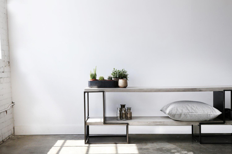 Vega Concrete Tv Unit | Screen | Furniture, Concrete, Tv Unit inside Mix Patina Metal Frame Console Tables (Image 29 of 30)