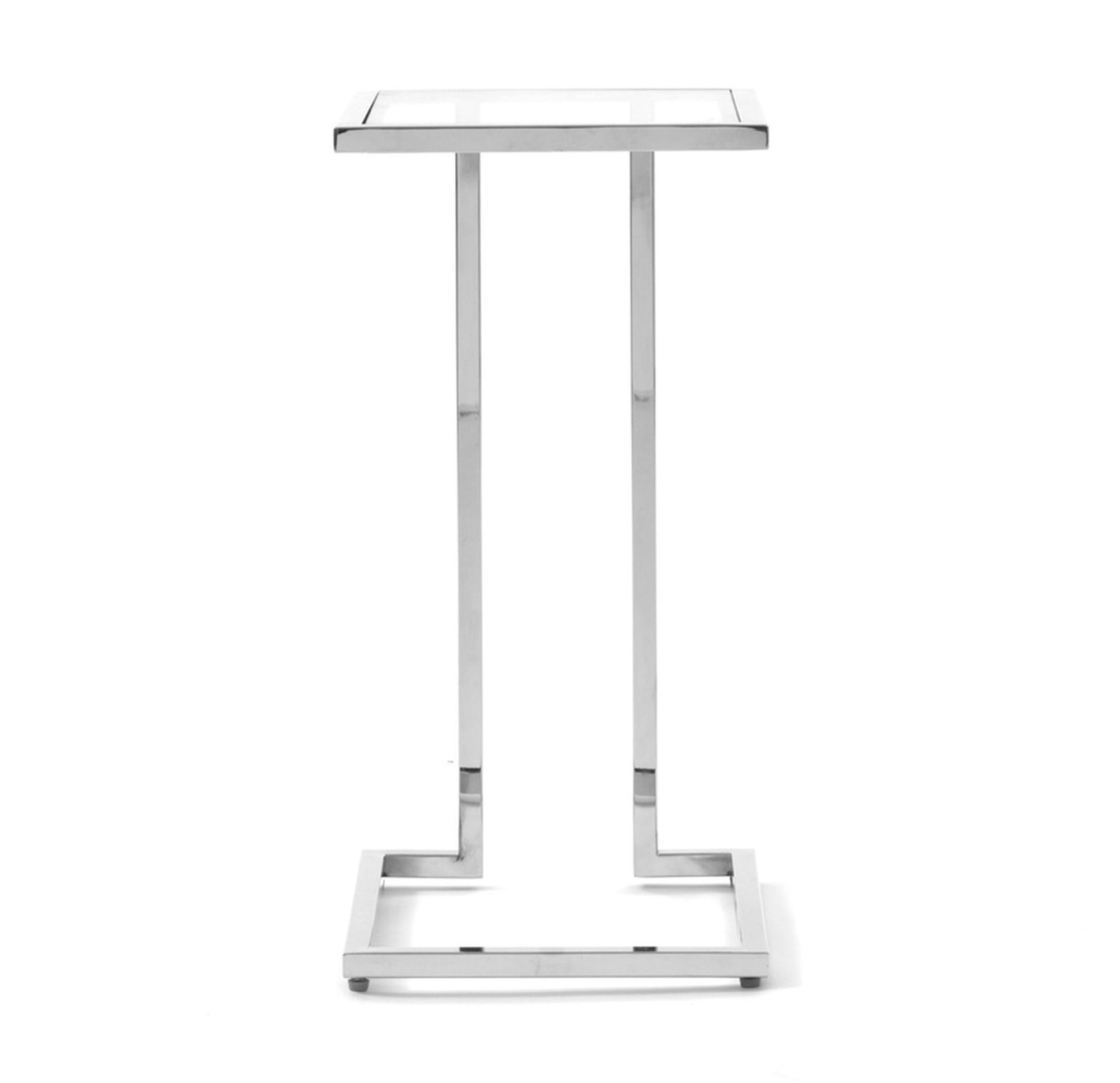 Vienna Pull Up Table – Polished Stainless Steel, | Living Room For Parsons Clear Glass Top & Brass Base 48x16 Console Tables (View 12 of 30)