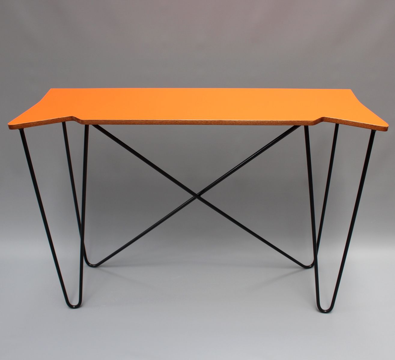Vintage Orange Console Table 1980S For Sale At Pamono Bone Inlay Inside Orange Inlay Console Tables (View 30 of 30)