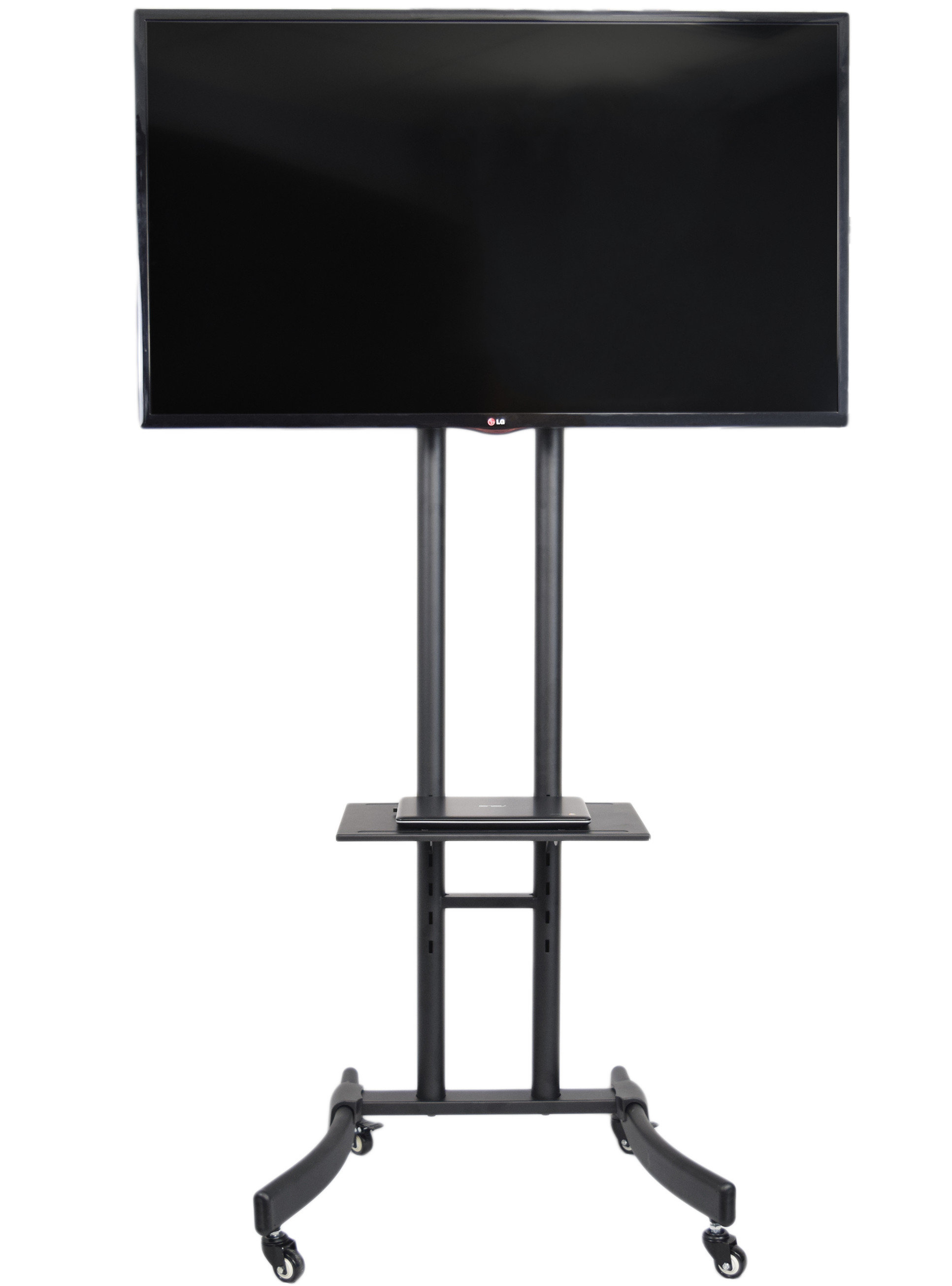 "Vivo Tv Cart For Lcd Led Plasma Stand 32"" 65"" Flat Panel Screen Throughout Lauderdale 62 Inch Tv Stands (View 16 of 30)"