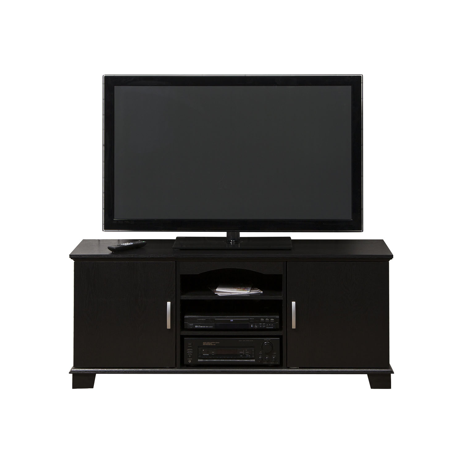 "Walker Edison Black Tv Stand For Tvs Up To 65"", Multiple Colors Throughout Century Blue 60 Inch Tv Stands (Photo 29 of 30)"