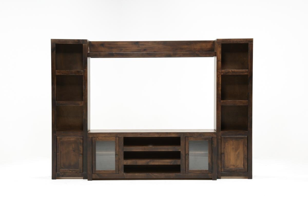 Walton 4 Piece Entertainment Center | Living Spaces Throughout Lauderdale 62 Inch Tv Stands (Photo 27 of 30)