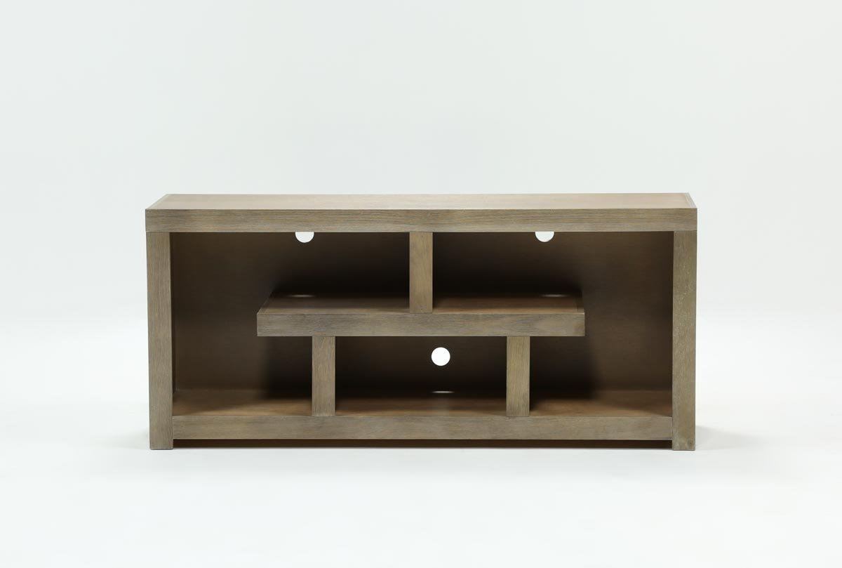 Walton Grey 60 Inch Tv Stand | Living Spaces With Regard To Kilian Black 74 Inch Tv Stands (Photo 1 of 27)