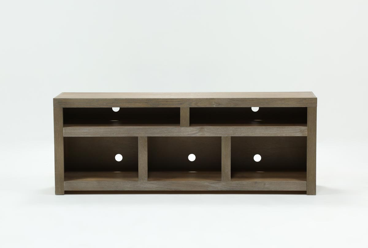 Walton Grey 72 Inch Tv Stand | Living Spaces For Kenzie 72 Inch Open Display Tv Stands (View 4 of 30)
