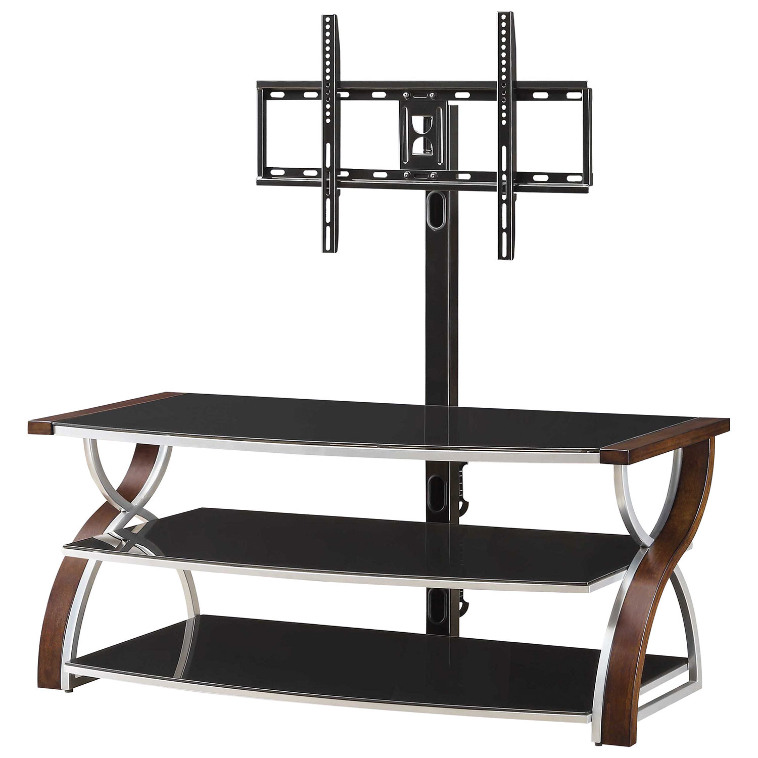 "Whalen 3 In 1 Tv Stand For Tvs Up To 60"" (Bbcxl54 Nv)   Nova : Tv Throughout Valencia 60 Inch Tv Stands (Photo 26 of 30)"