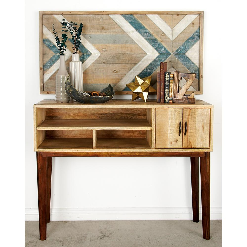 White   Console Tables   Accent Tables   The Home Depot Inside Natural Wood Mirrored Media Console Tables (Photo 20 of 30)