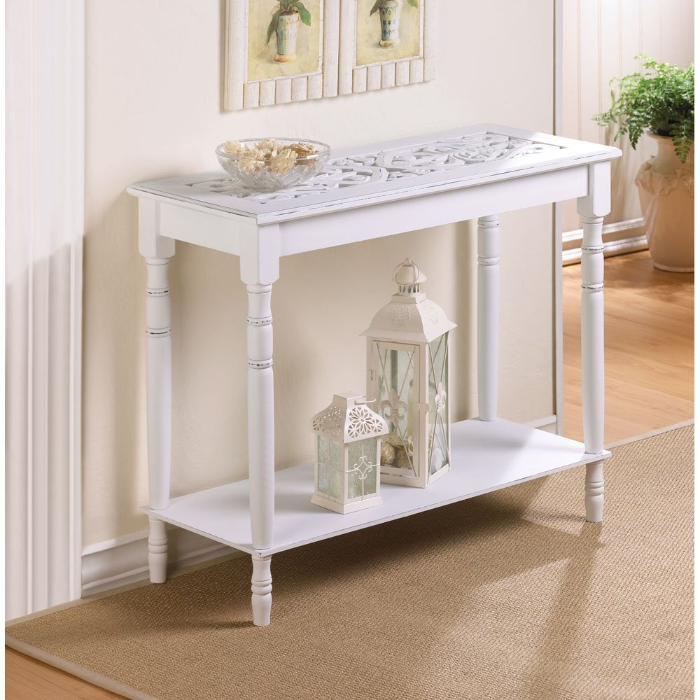 White Distressed Console Table : Console Table - Classic Yet Elegant for Antique White Distressed Console Tables (Image 29 of 30)