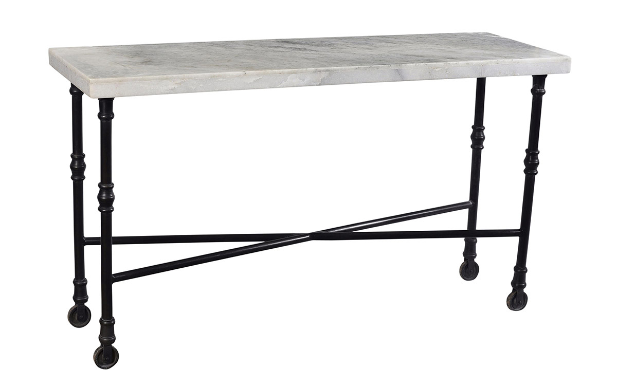 White Marble Top Sofa Table   Table Designs Regarding Parsons White Marble Top & Elm Base 48X16 Console Tables (Photo 18 of 30)