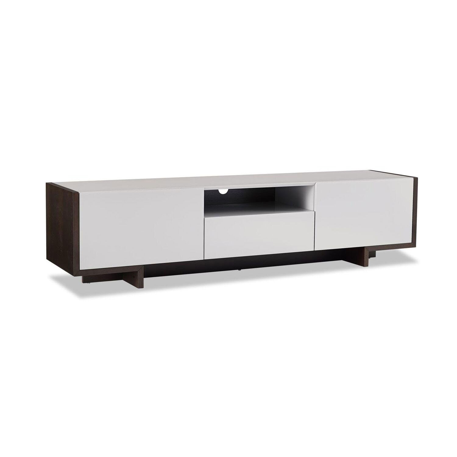 Whiteline Modern Living Noah Tv Unit Ec1463 Tau/blk | Bellacor Intended For Noah 75 Inch Tv Stands (Photo 1 of 30)
