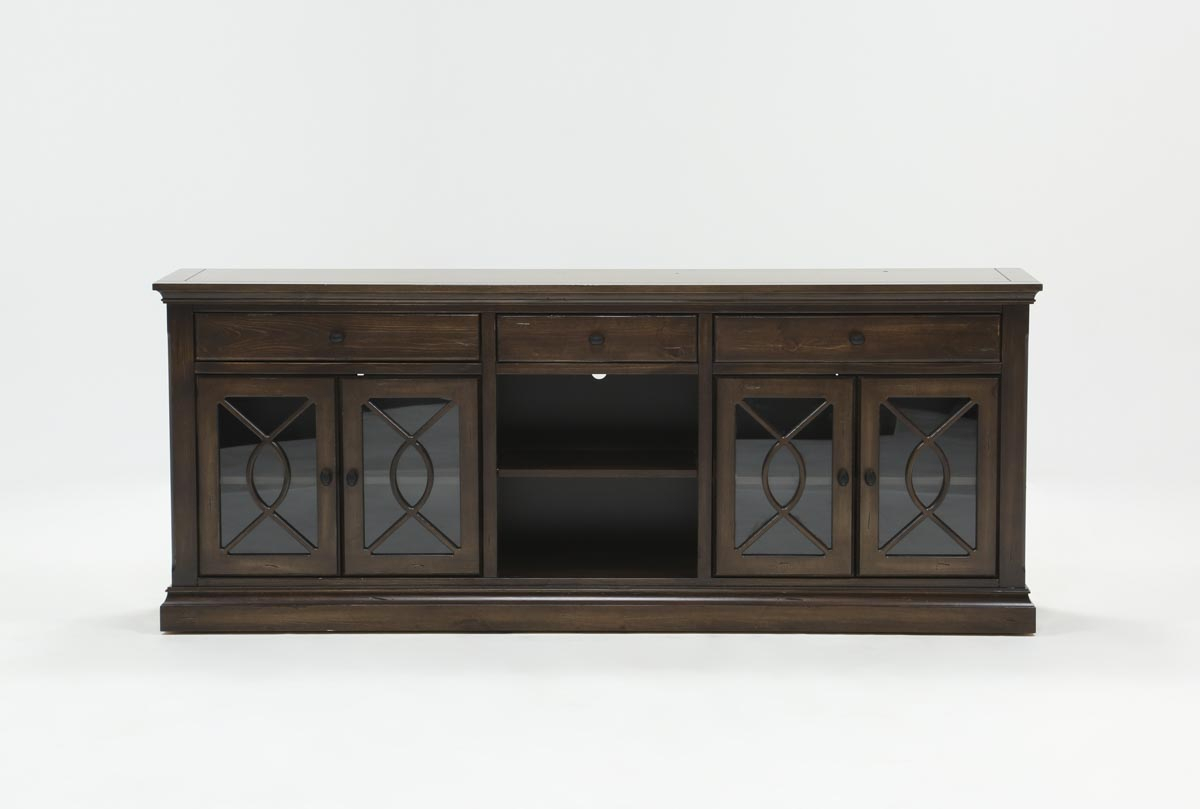 Willa 80 Inch Tv Stand | Living Spaces Inside Abbott Driftwood 60 Inch Tv Stands (Photo 8 of 30)