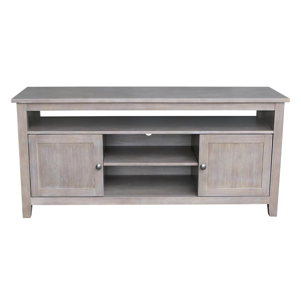 Wood   Corner Unit   Tv Stands   Living Room Furniture   The Home Depot With Abbott Driftwood 60 Inch Tv Stands (Photo 24 of 30)