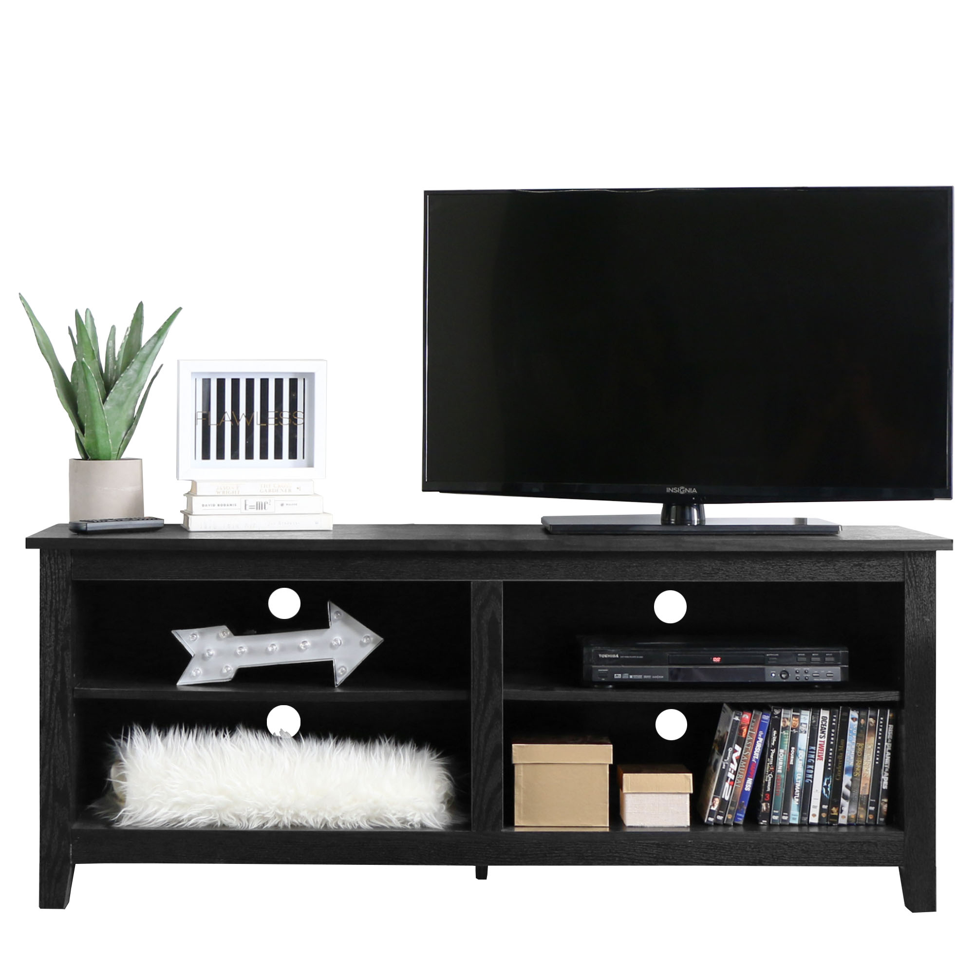 "Wood Tv Media Storage Stand For Tv's Up To 60"", Multiple Finishes Intended For Oxford 70 Inch Tv Stands (Photo 15 of 30)"