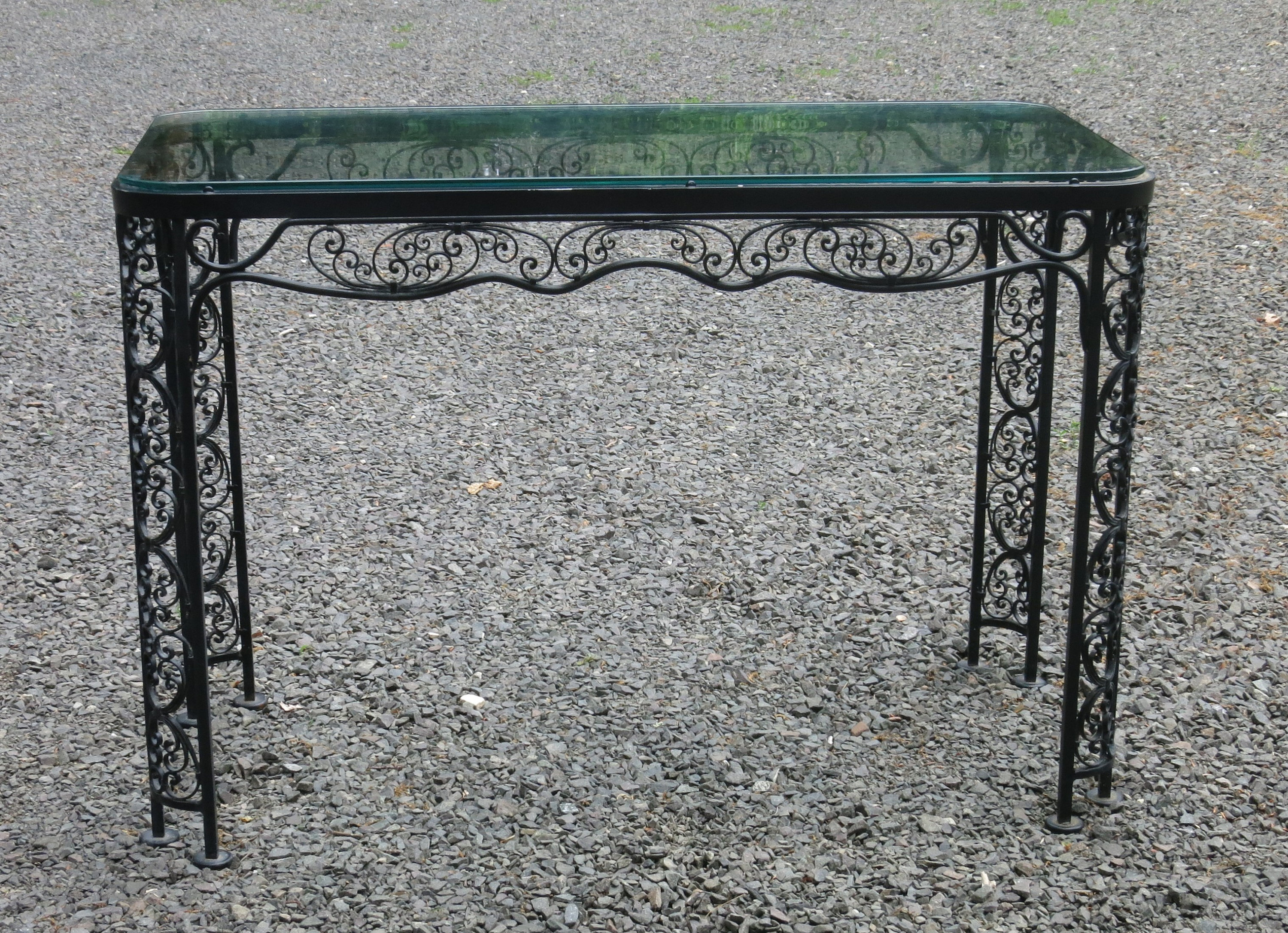 Woodard Andalusian Console Table Vintage Patio Within Switch Console Tables (Photo 8 of 30)