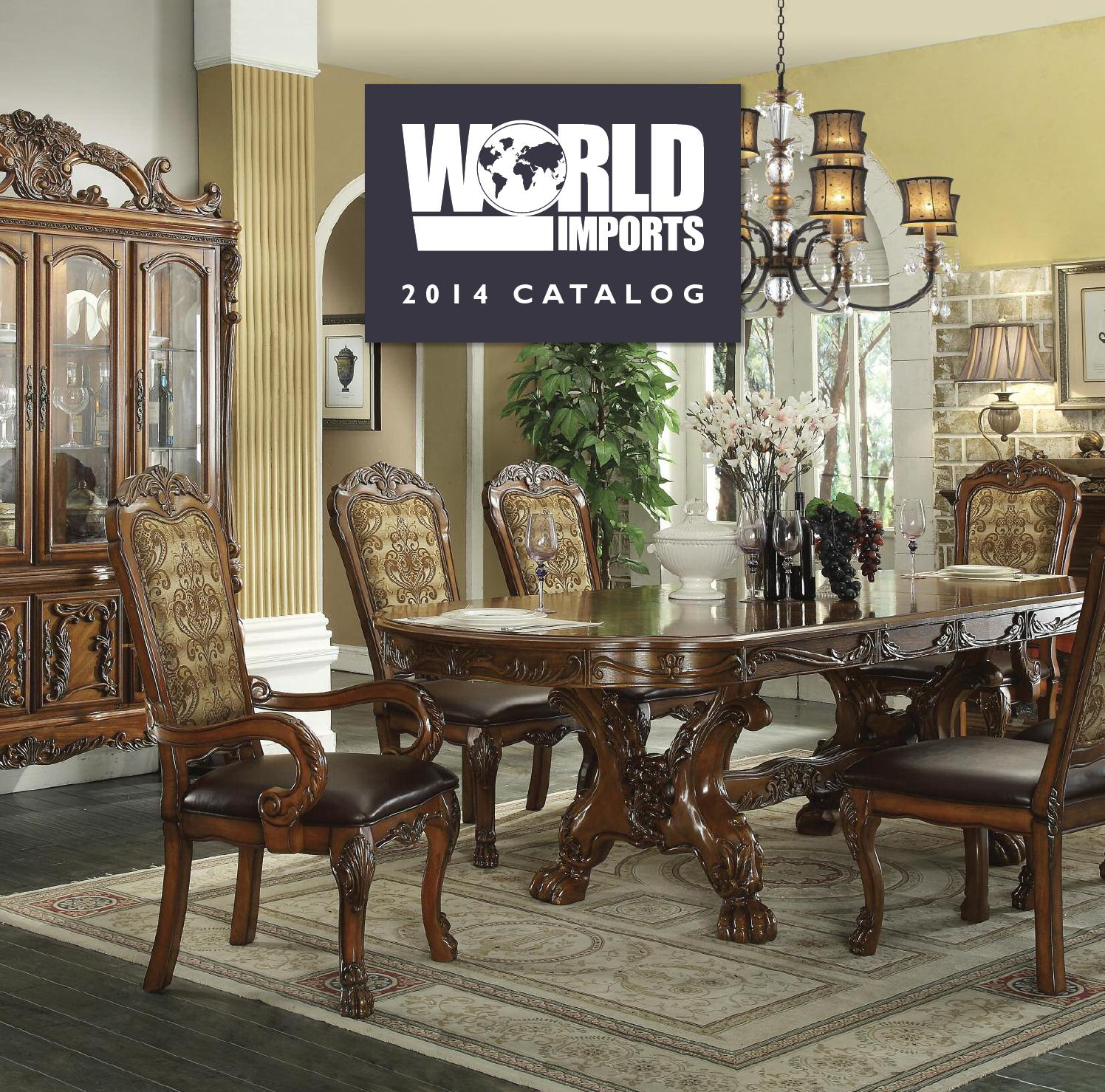 World Imports 2014 Catalogworld Imports Ltd   Issuu Pertaining To Parsons Walnut Top & Brass Base 48X16 Console Tables (Photo 29 of 30)