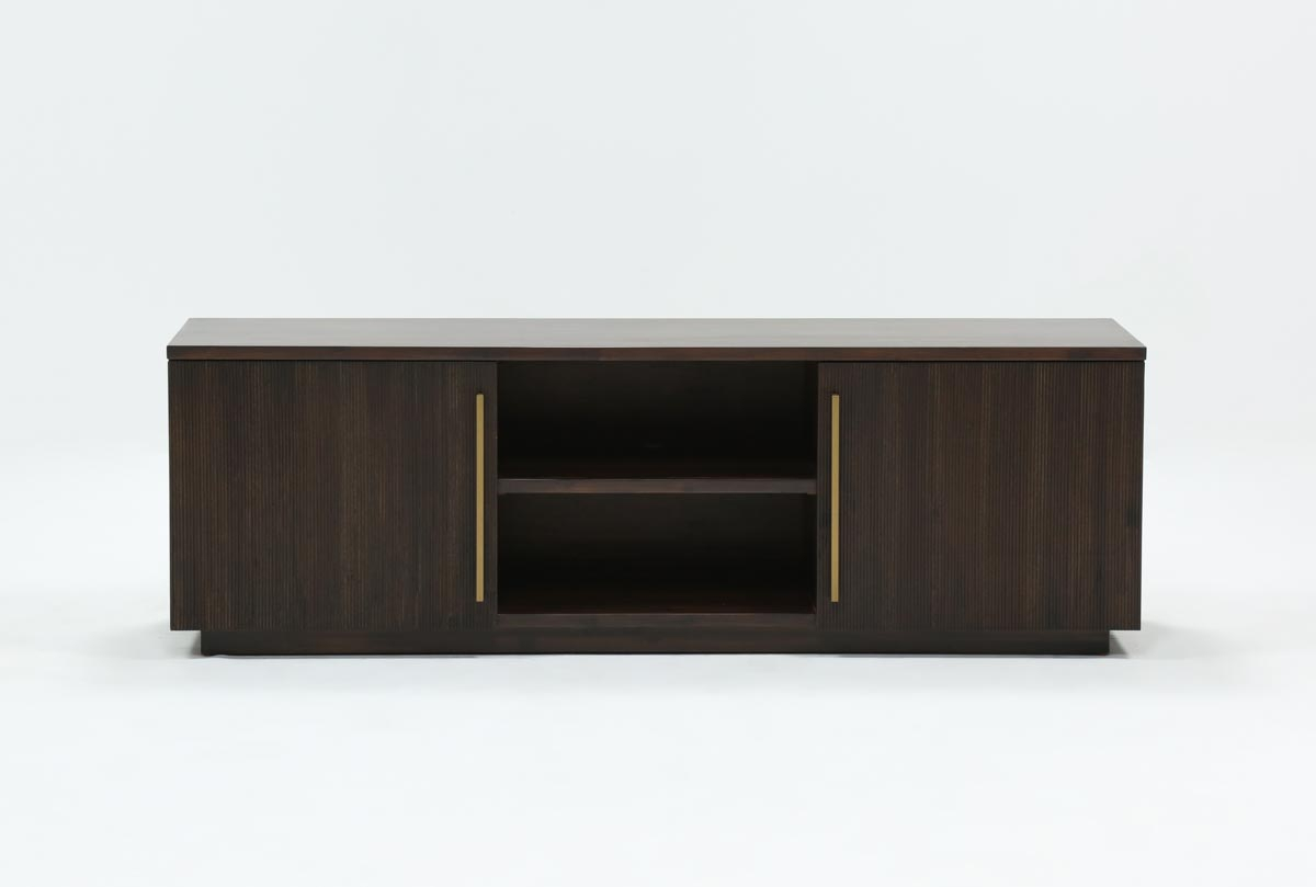 Wyatt 68 Inch Tv Stand | Living Spaces In Bale Rustic Grey 82 Inch Tv Stands (Photo 3 of 30)