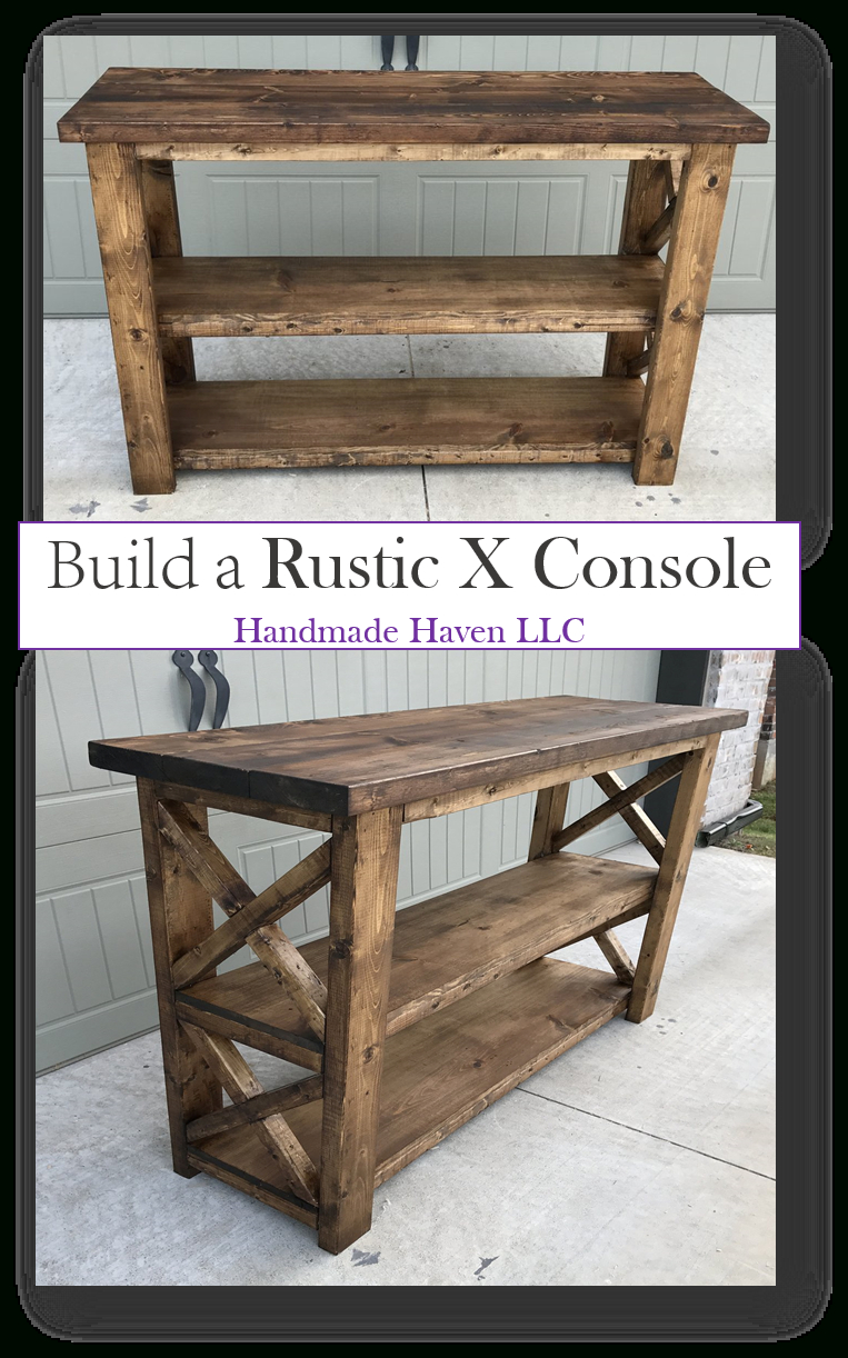 X Console Table In 2019 | Woodworking Ideas From Builder Bloggers Intended For Walters Media Console Tables (Photo 10 of 30)