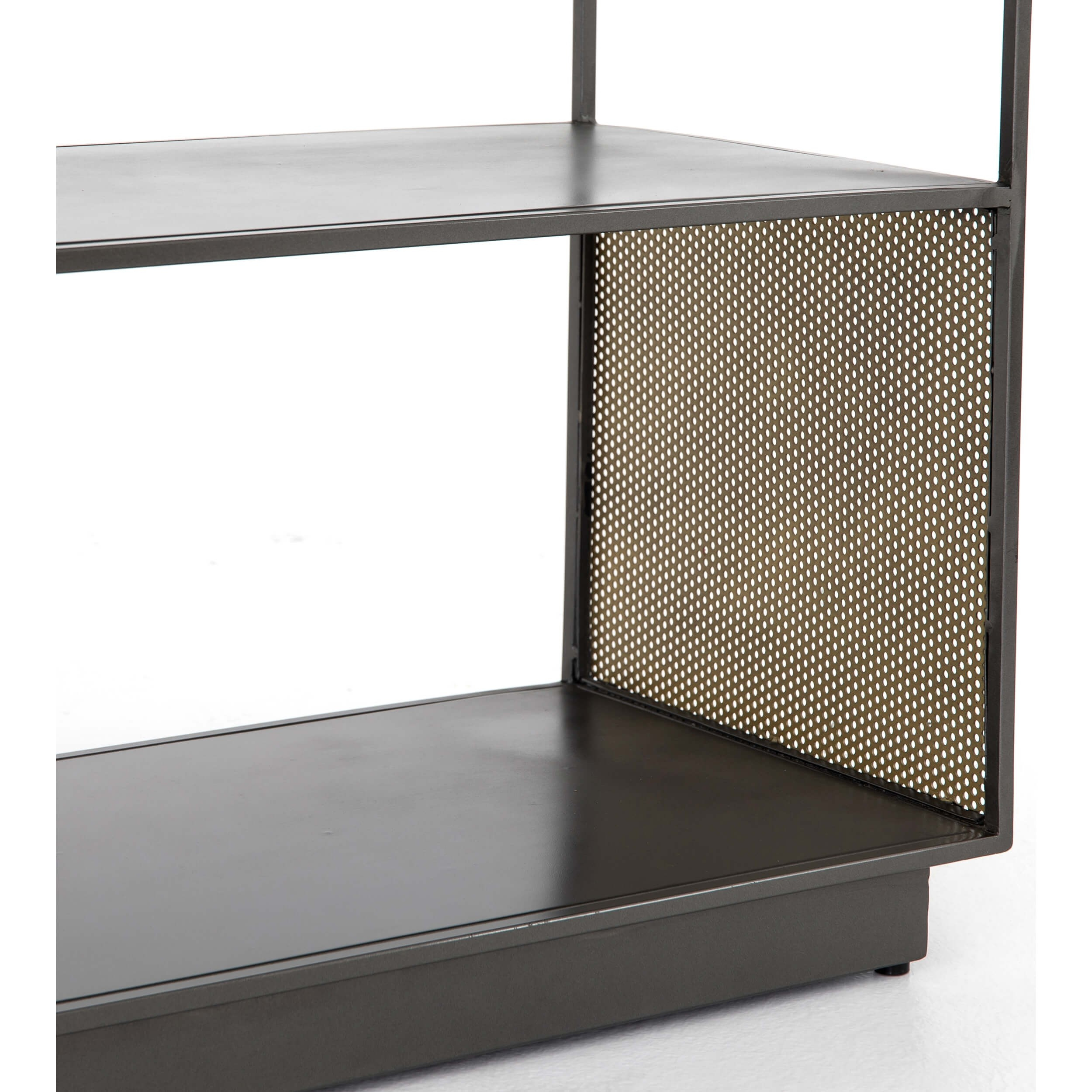 Zadie Media Console – Media – Storage – Furniture In Gunmetal Perforated Brass Media Console Tables (View 11 of 30)
