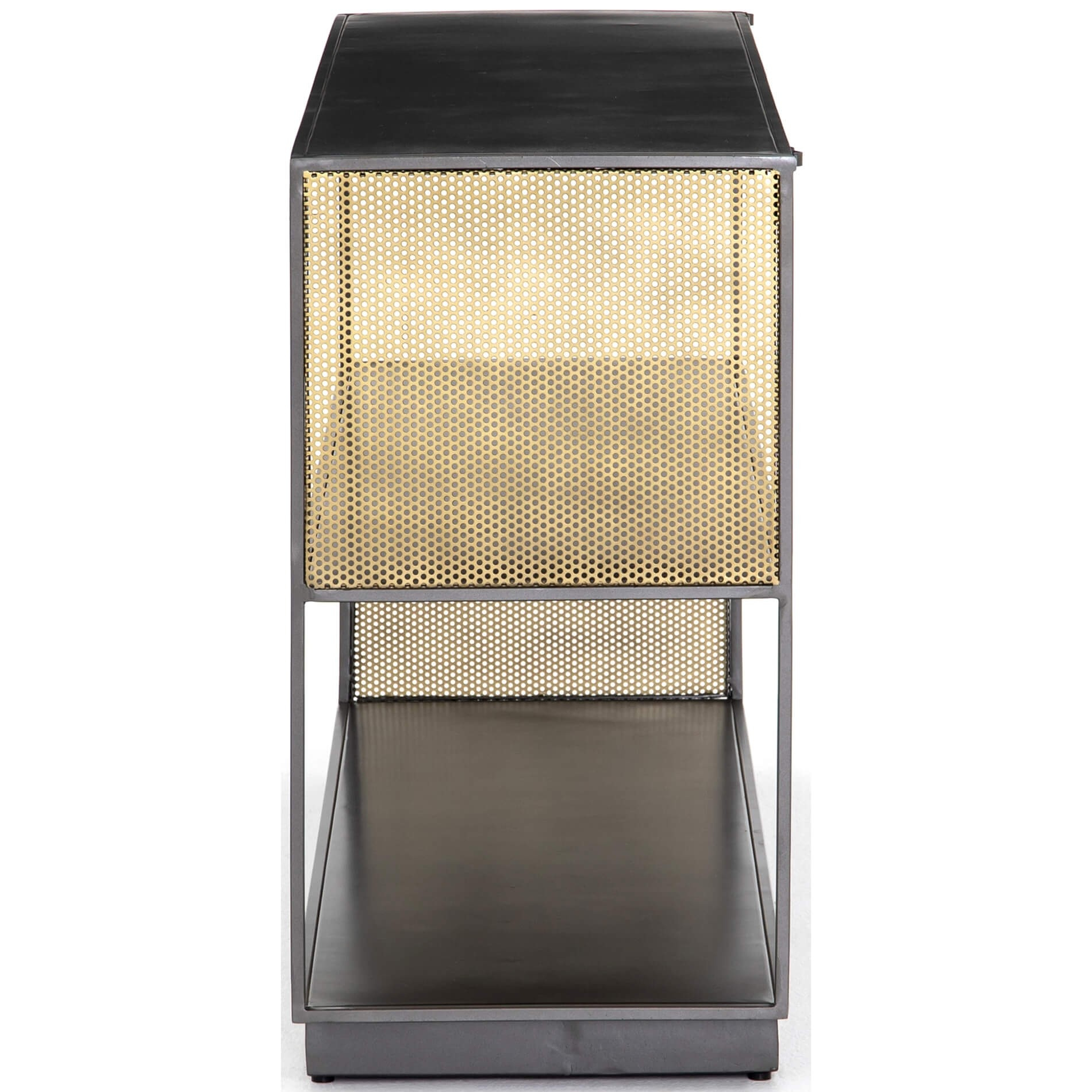 Zadie Media Console – Media – Storage – Furniture With Regard To Gunmetal Perforated Brass Media Console Tables (View 15 of 30)