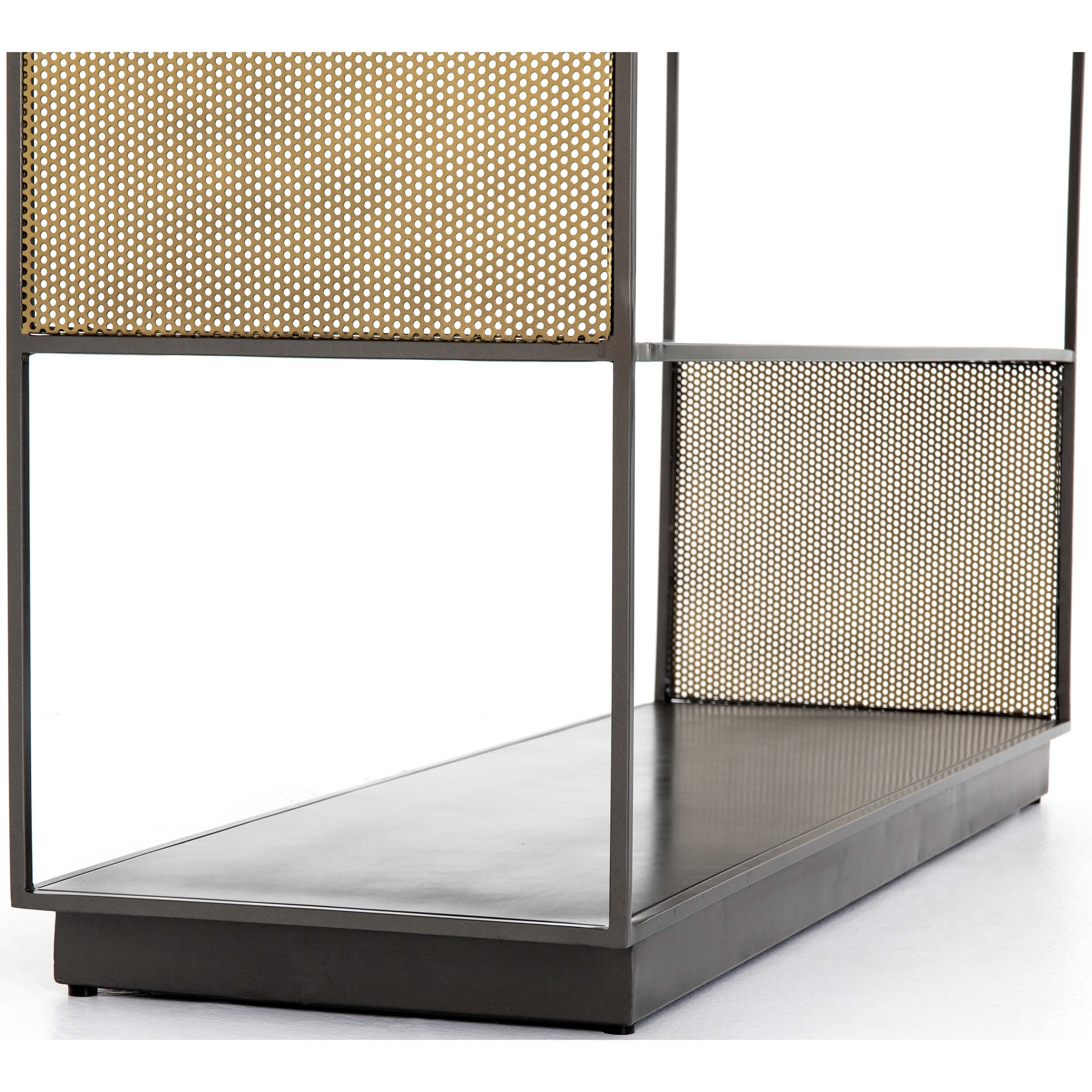 Zadie Media Console – Media – Storage – Furniture Within Gunmetal Perforated Brass Media Console Tables (View 17 of 30)