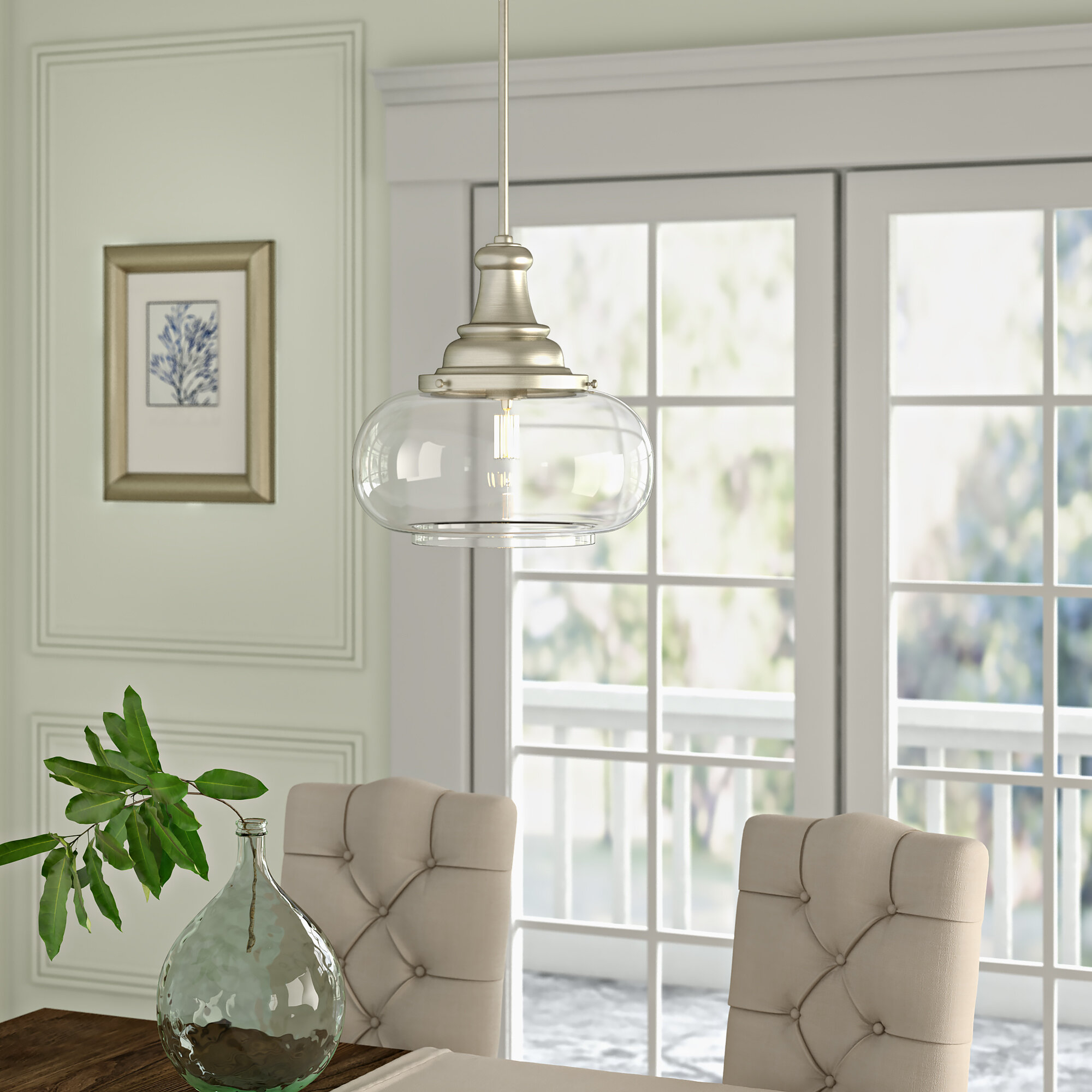 1 Light Bowl Pendant With Nadine 1 Light Single Schoolhouse Pendants (View 9 of 30)