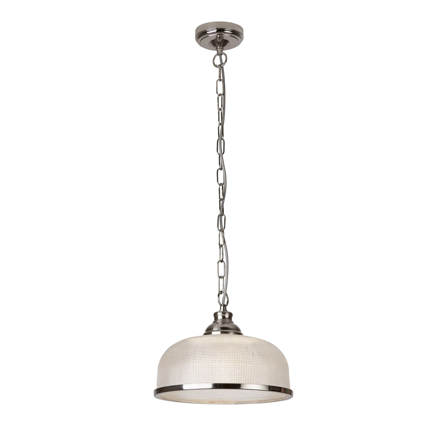 1 Light Ceiling Pendant Silver, White, Glass Single within 1-Light Single Dome Pendants (Image 1 of 30)