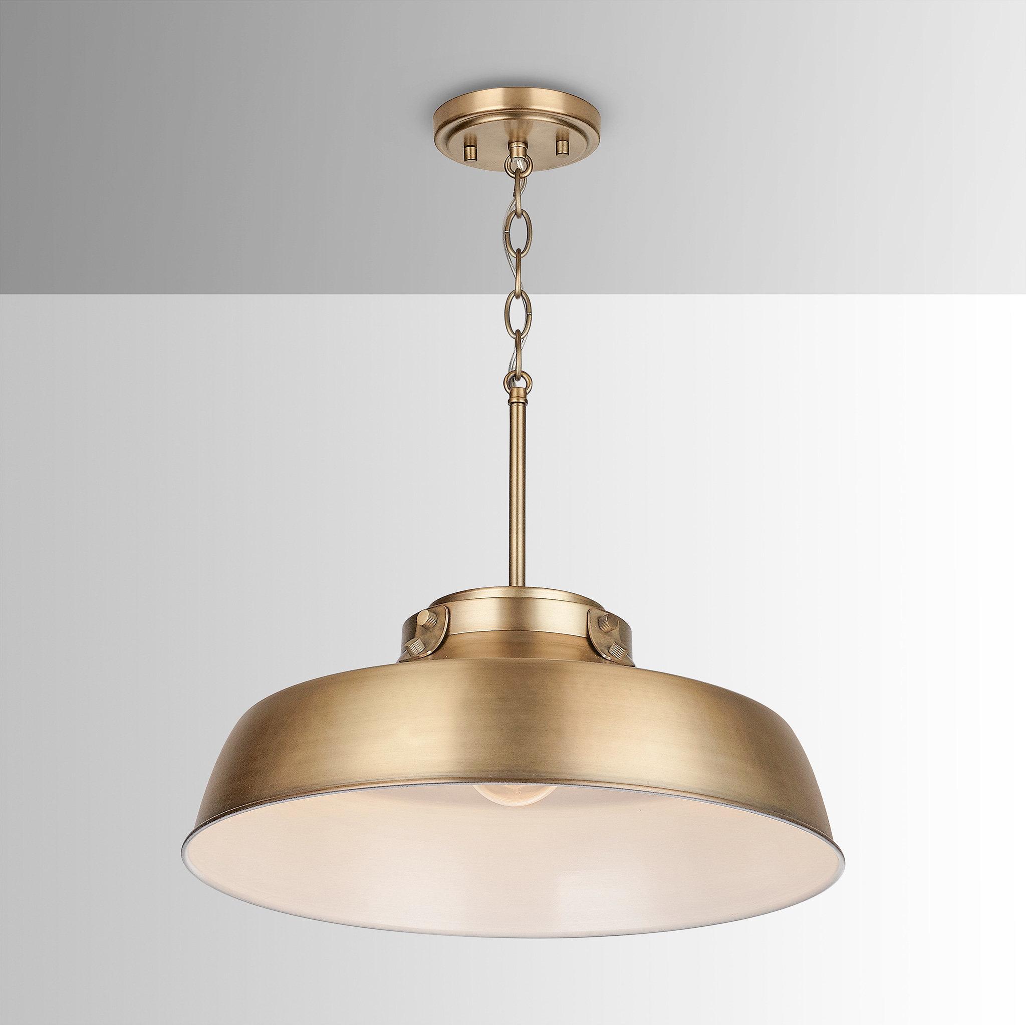 1 Light Dome Pendant Within Radtke 3 Light Single Drum Pendants (Photo 25 of 30)