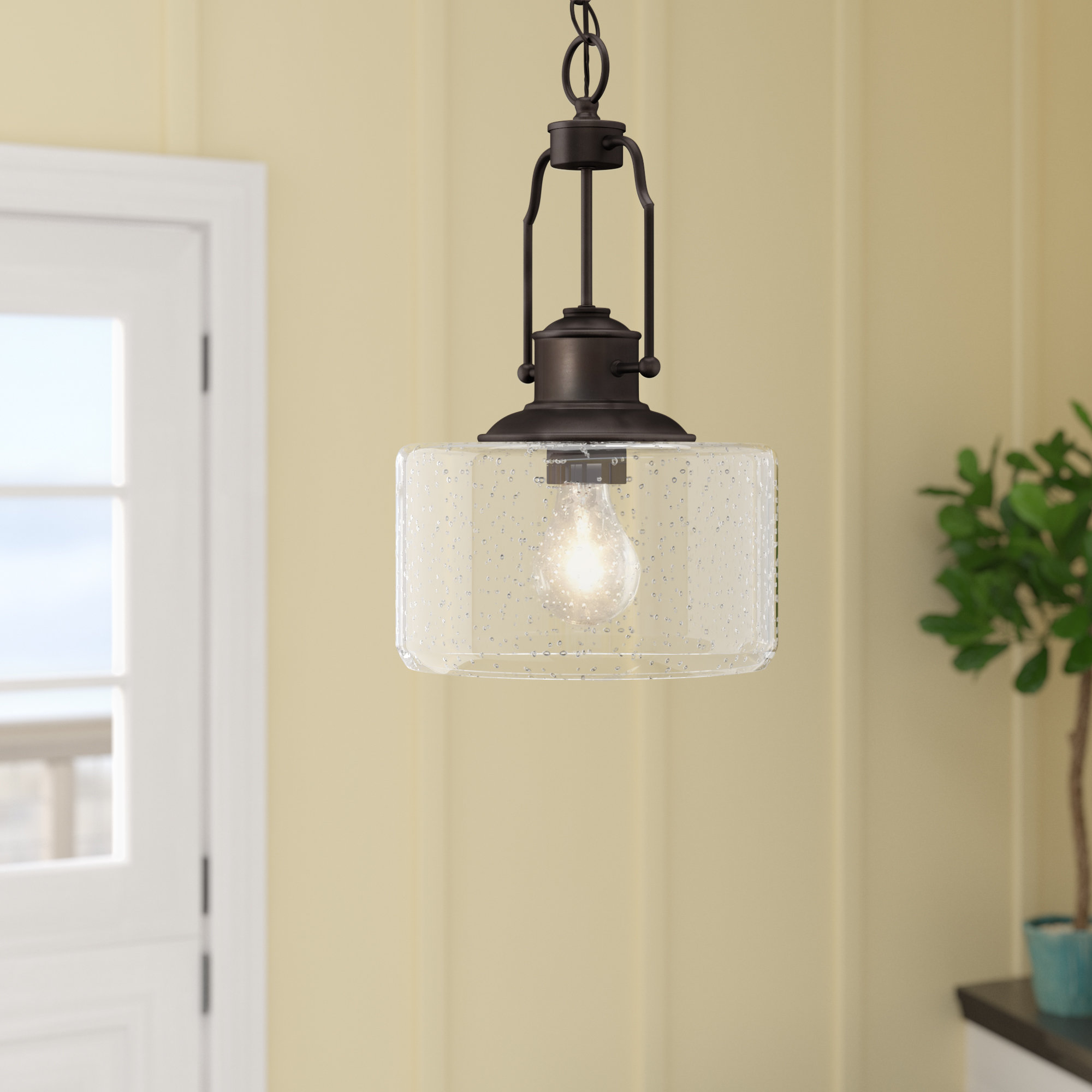 1 Light Drum Pendant With Regard To Moyer 1 Light Single Cylinder Pendants (View 24 of 30)
