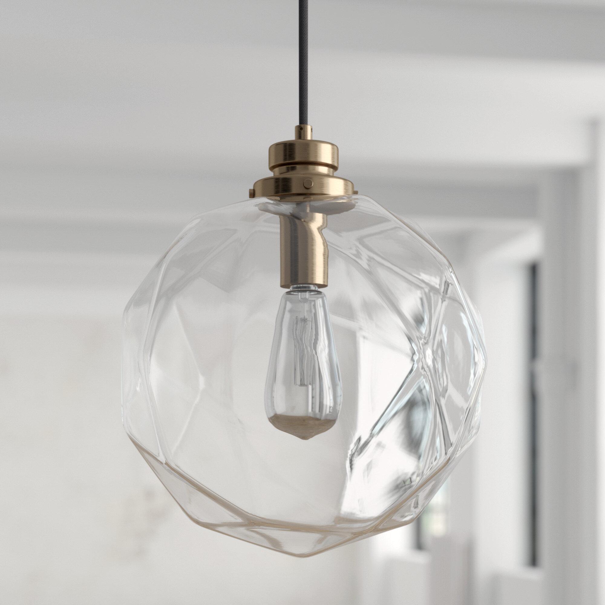 1 Light Geometric Globe Pendant In 1 Light Geometric Globe Pendants (Gallery 2 of 30)