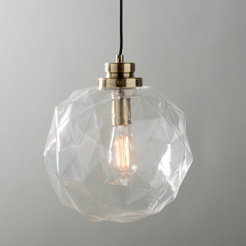 1 Light Geometric Globe Pendant Intended For 1 Light Geometric Globe Pendants (Photo 1 of 30)