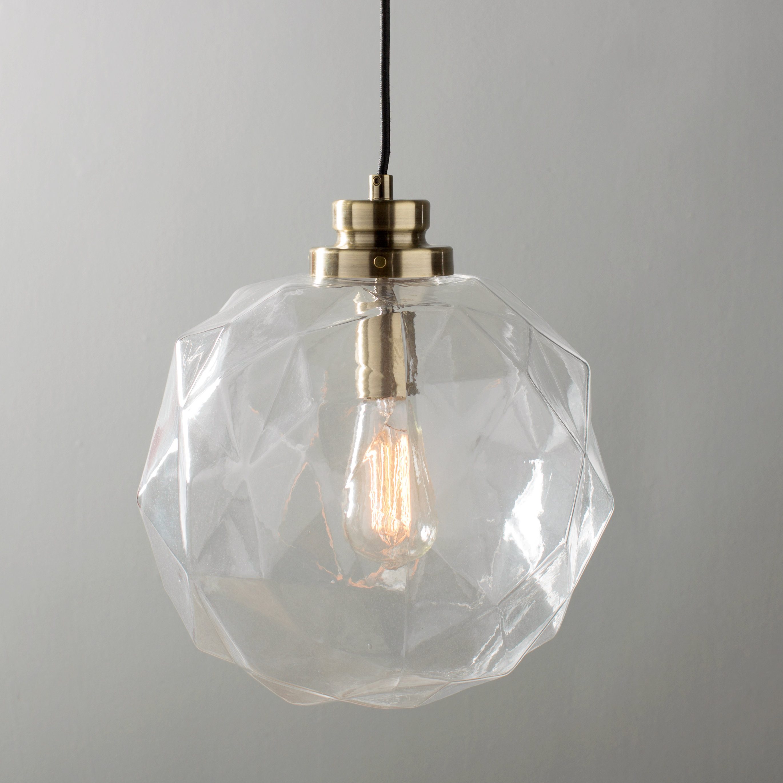 1 Light Geometric Globe Pendant With Gehry 1 Light Single Globe Pendants (Photo 16 of 30)