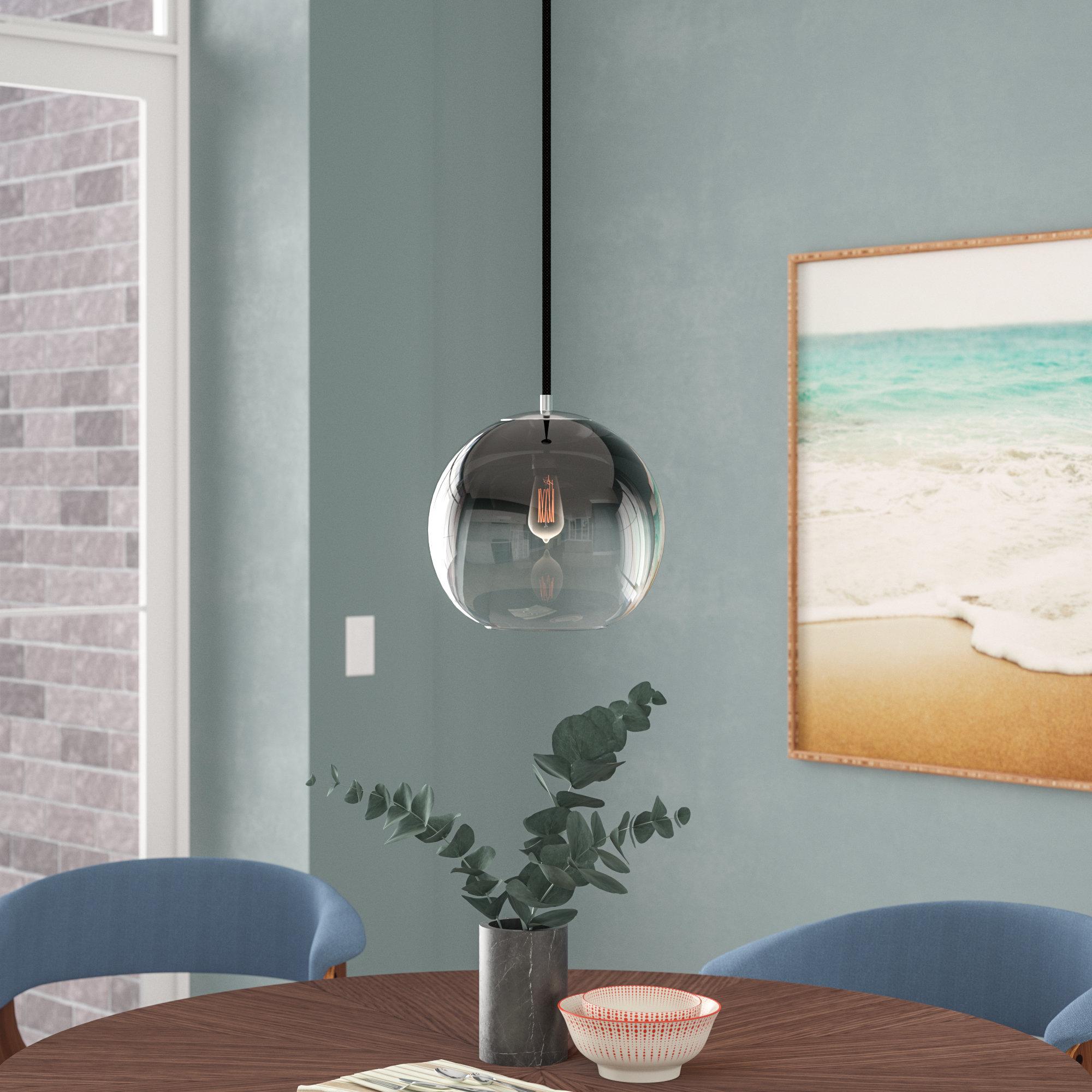1 Light Globe Pendant With 1 Light Globe Pendants (View 3 of 30)