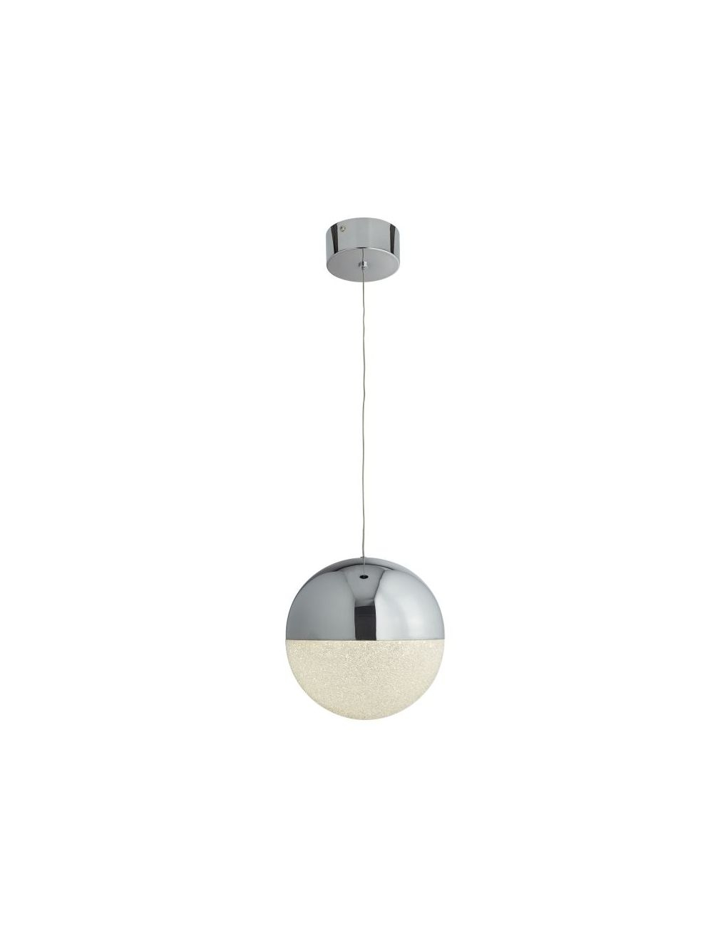 1 Light Led Globe Pendant Ice Shade Chrome With 1 Light Globe Pendants (View 2 of 30)