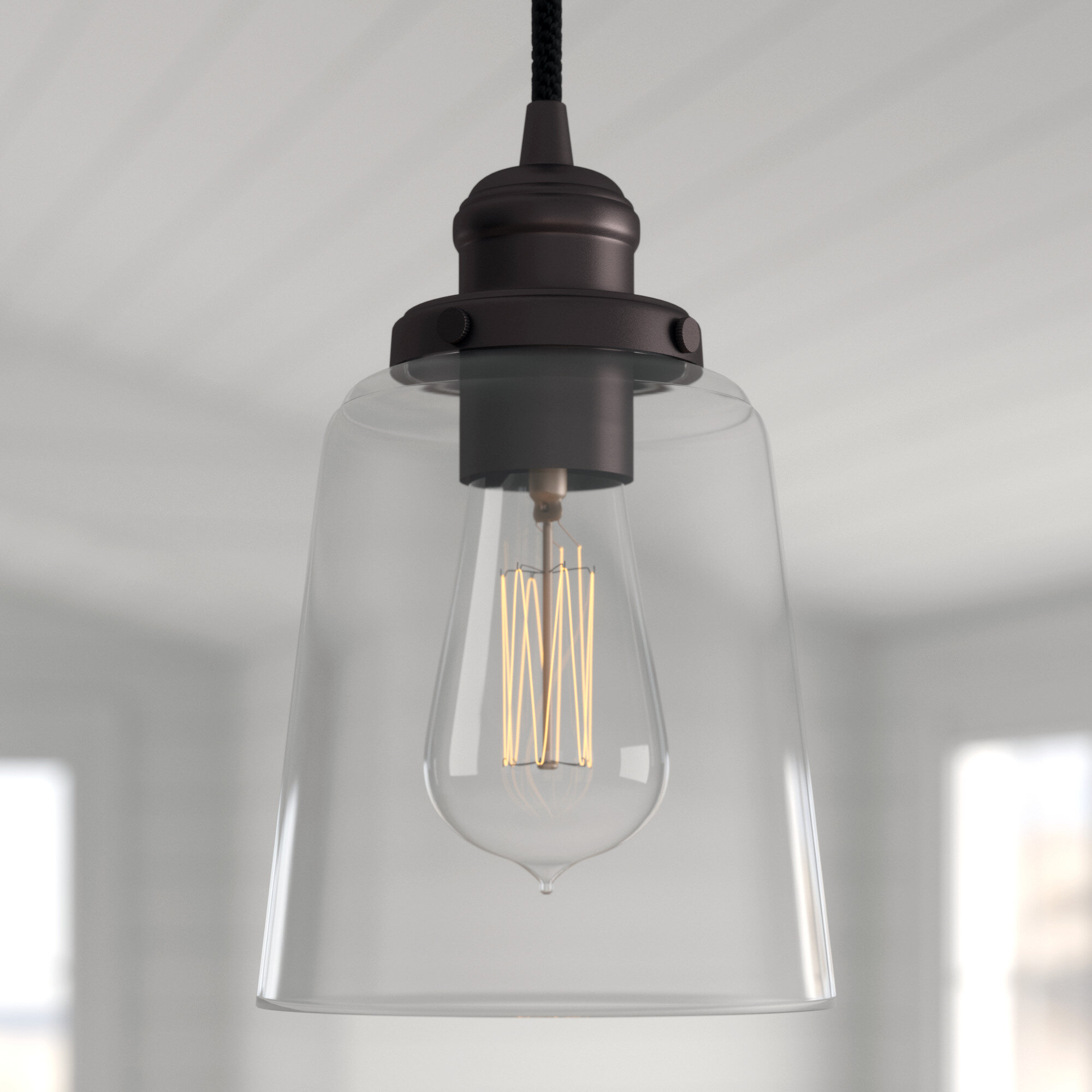 1 Light Single Bell Pendant Throughout Houon 1 Light Cone Bell Pendants (Gallery 25 of 30)