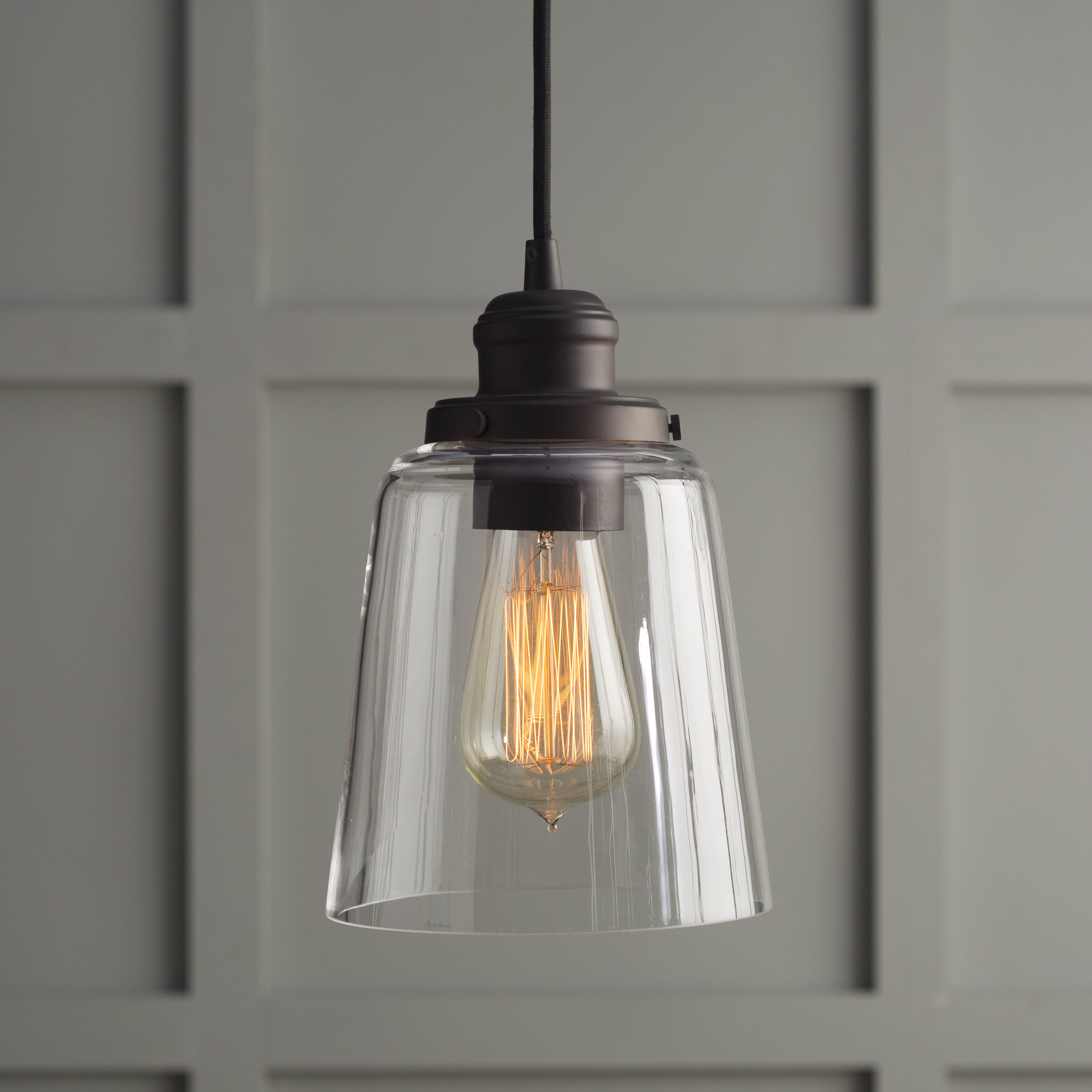 1 Light Single Bell Pendant Throughout Houon 1 Light Cone Bell Pendants (Gallery 5 of 30)
