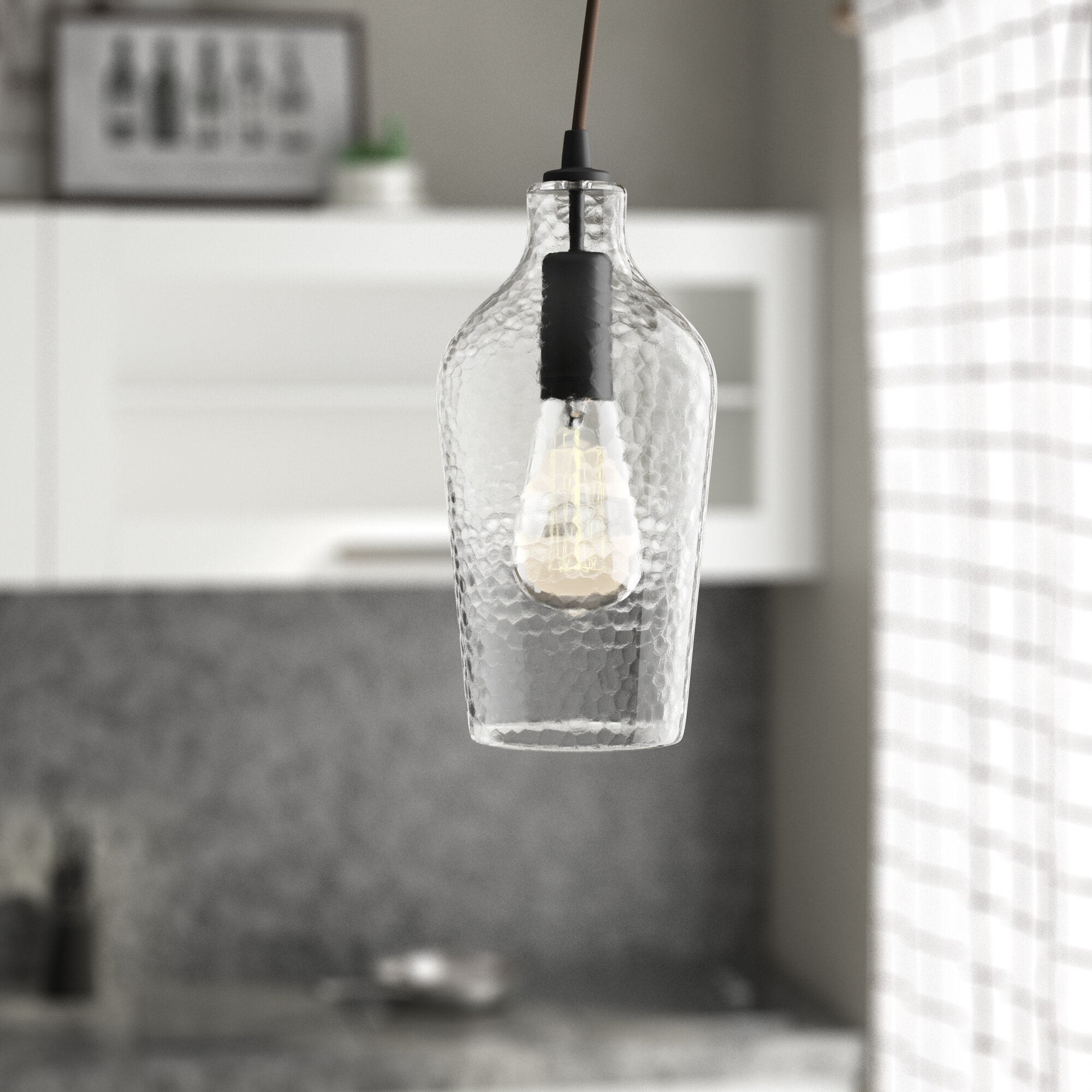 1 Light Single Jar Pendant In Scruggs 1 Light Geometric Pendants (Gallery 22 of 30)