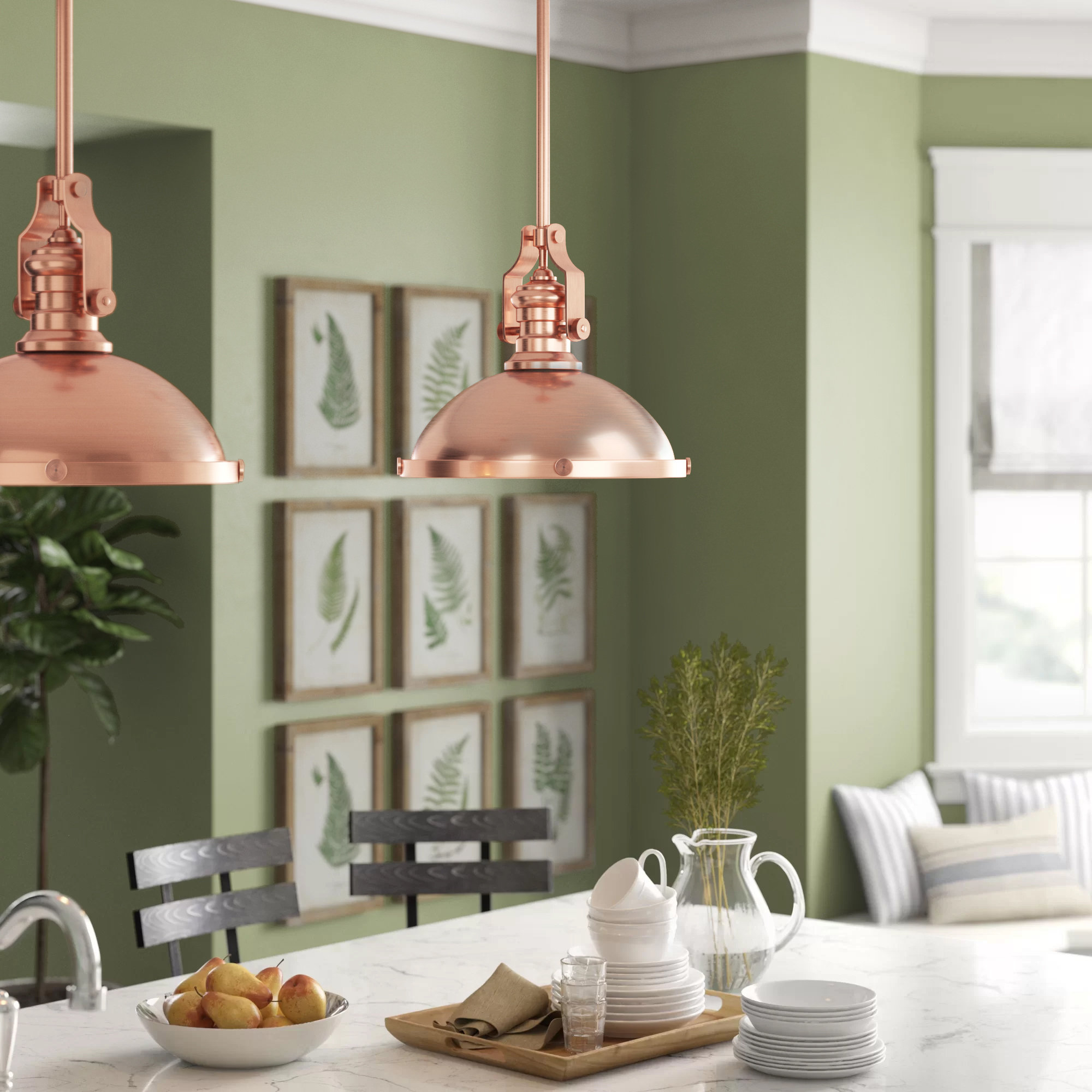 1 Light Single Pendant Lighting You'll Love In 2019 | Wayfair Pertaining To Willems 1 Light Single Drum Pendants (Photo 12 of 30)