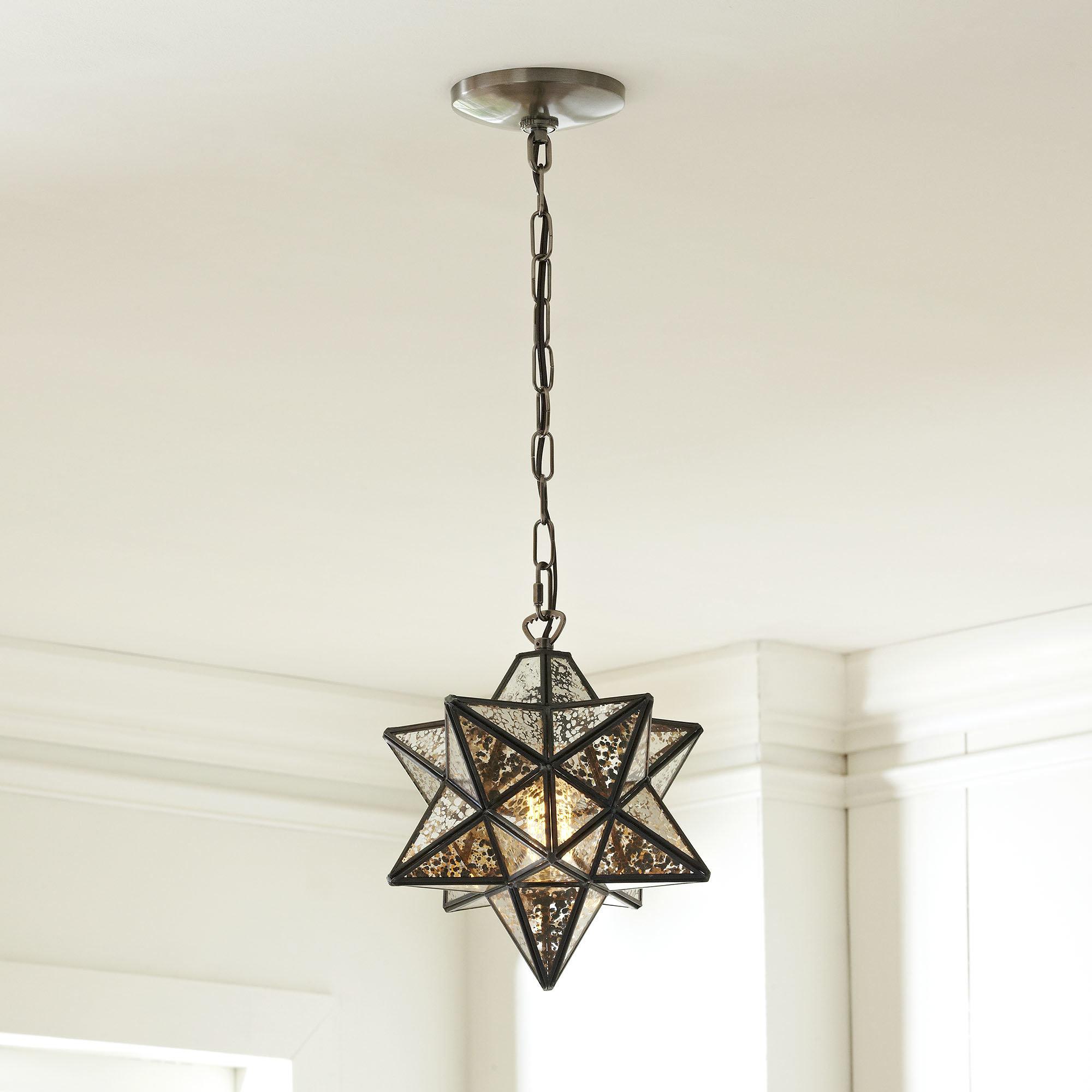 1 Light Single Star Pendant For Louanne 1 Light Lantern Geometric Pendants (Gallery 19 of 30)