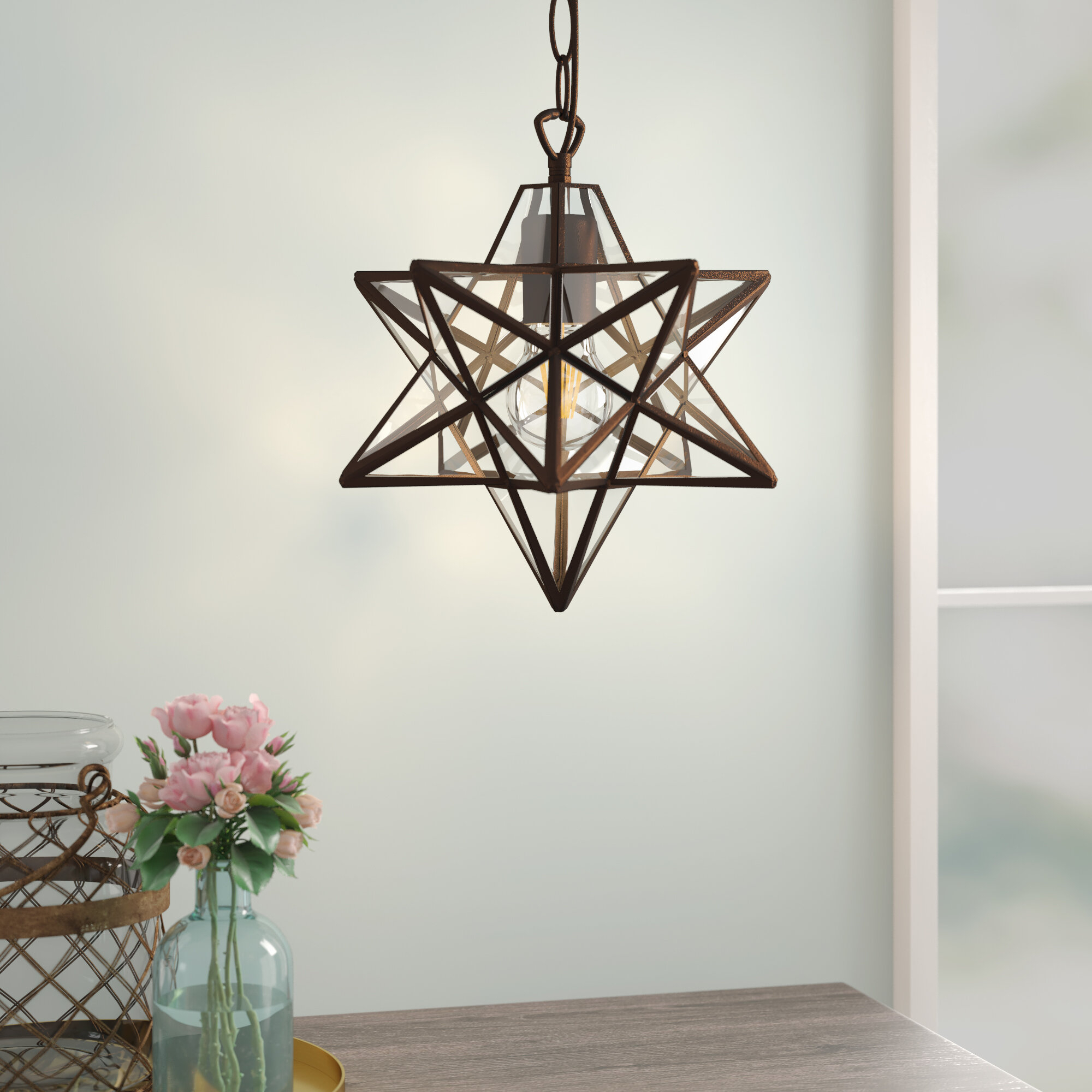 1 Light Single Star Pendant Pertaining To Poynter 1 Light Single Cylinder Pendants (View 8 of 30)