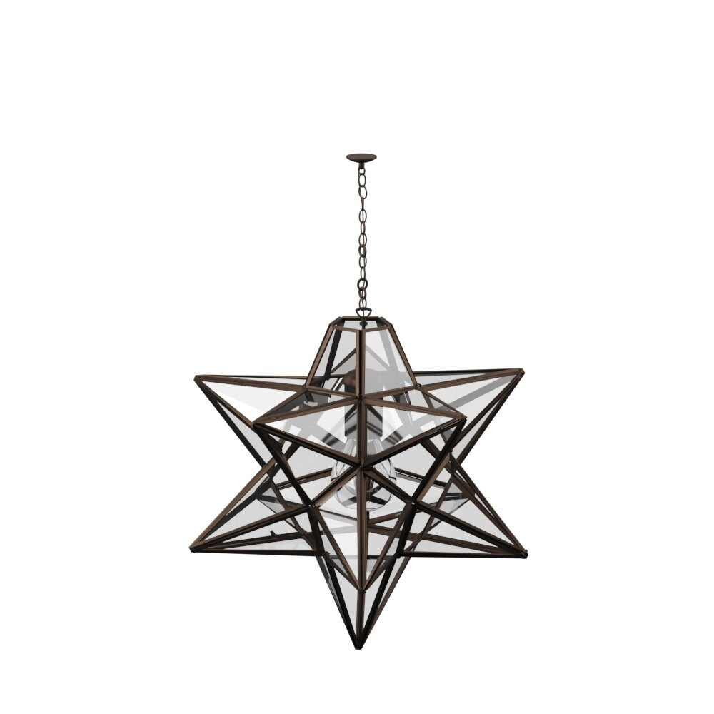 1-Light Single Star Pendant throughout 1-Light Single Star Pendants (Image 3 of 30)
