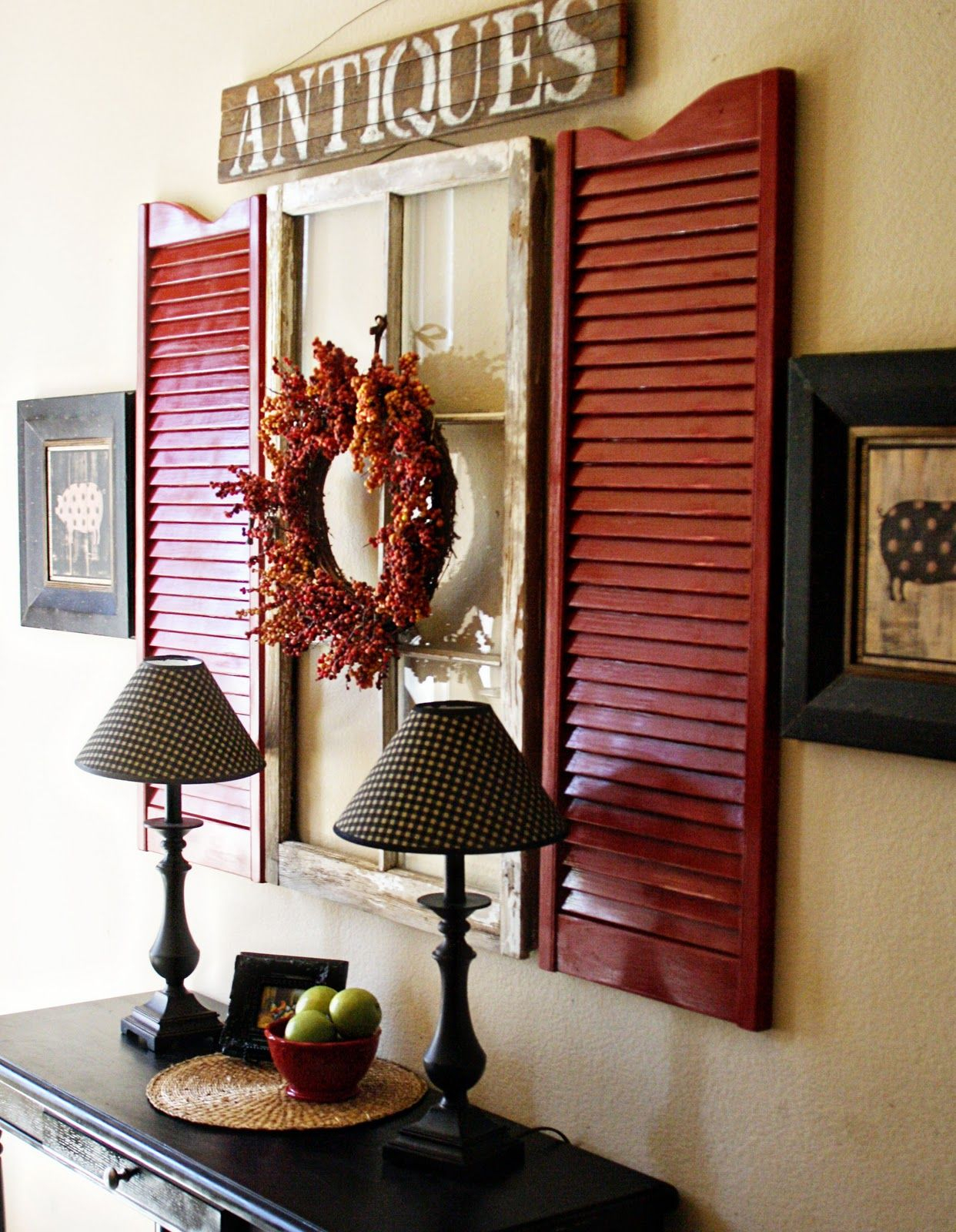 10 Great Ideas For Decorating Ideas For Shutters | Design With Regard To Shutter Window Hanging Wall Decor (View 2 of 30)