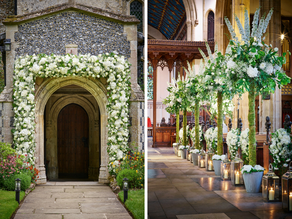 10 Ways To Decorate Your Wedding Venue With Flowers With Floral Patterned Over The Door Wall Decor (Gallery 19 of 30)