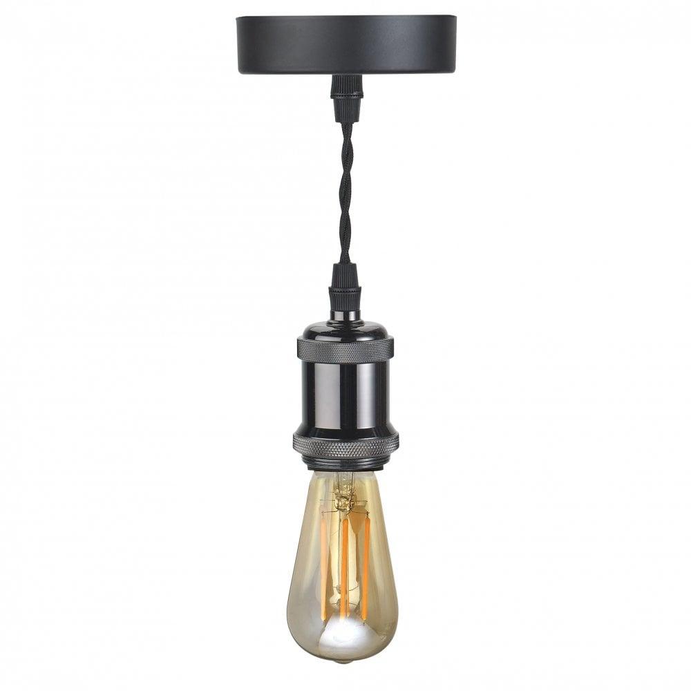 10300 1 Light Vintage Ceiling Pendant Gunmetal Black Within 1 Light Single Bell Pendants (View 2 of 30)