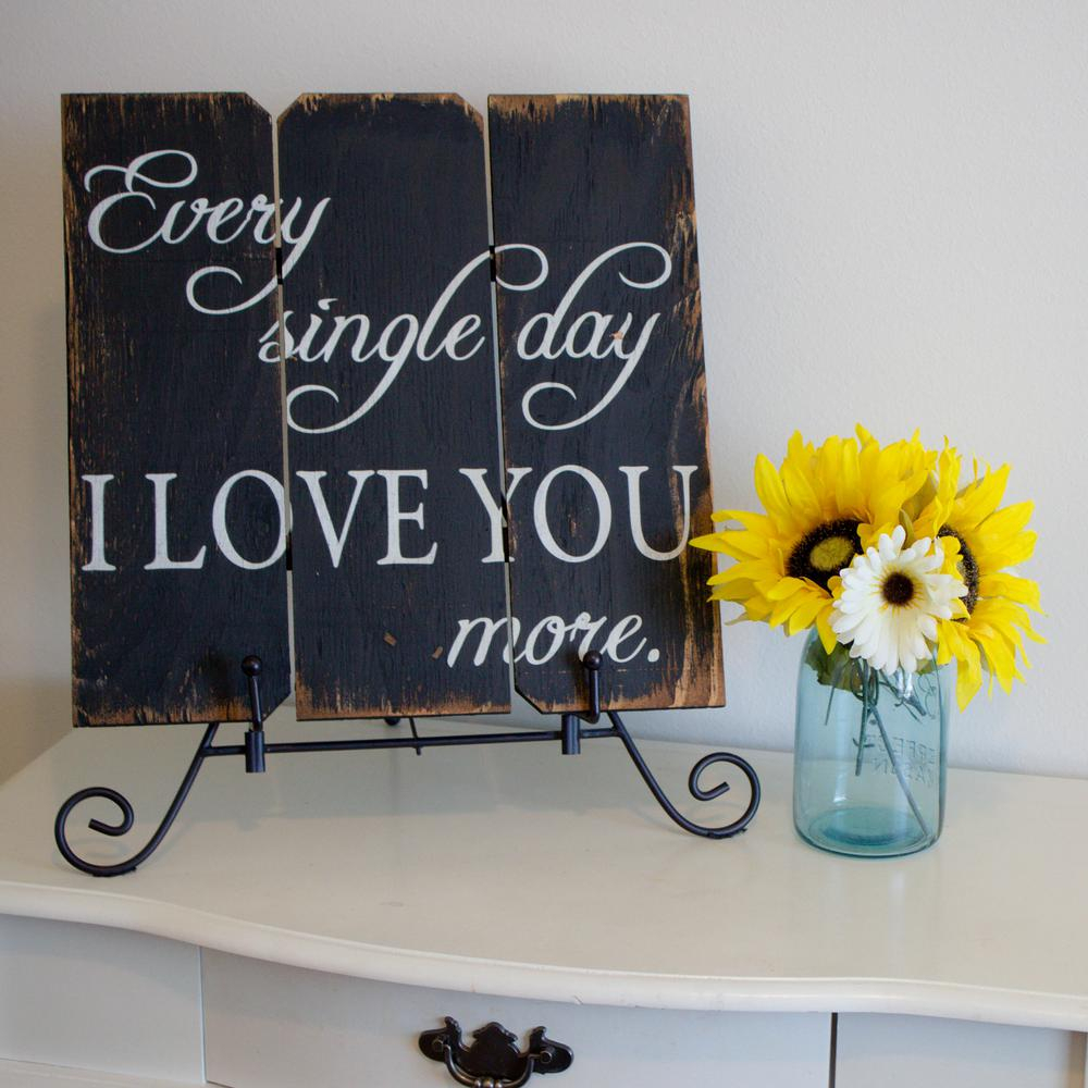 """106 In. X 16 In. """"every Single Day I Love You More""""boulder Innovations  Printed Wood Wall Art within 'love You More' Wood Wall Decor (Image 2 of 30)"""