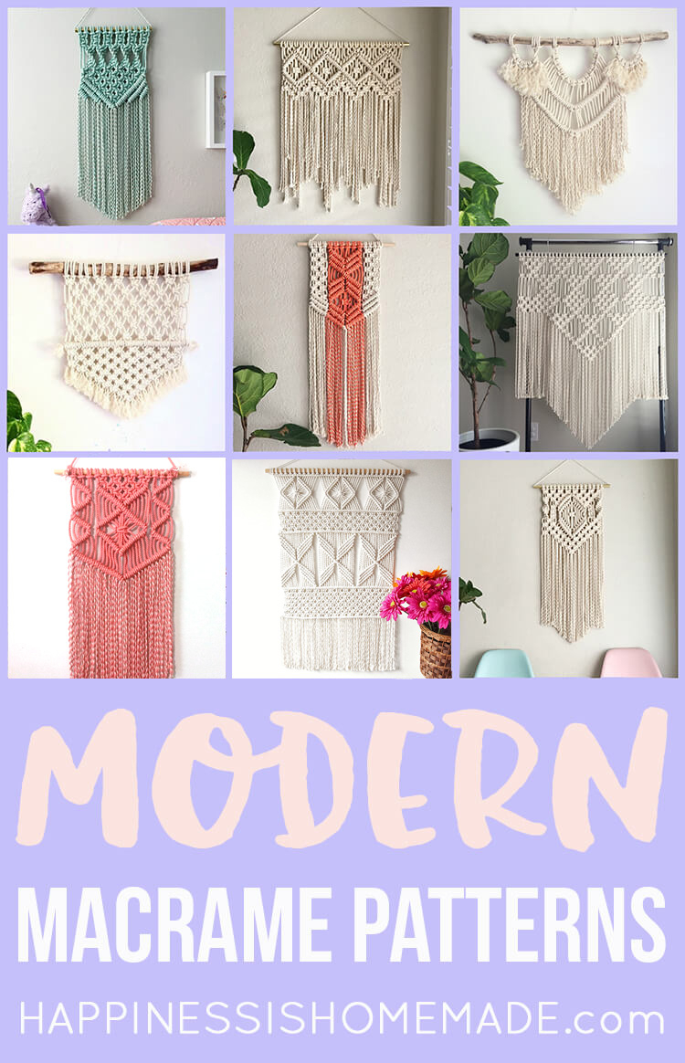 11 Modern Macrame Patterns – Happiness Is Homemade Pertaining To Floral Patterned Over The Door Wall Decor (Gallery 21 of 30)