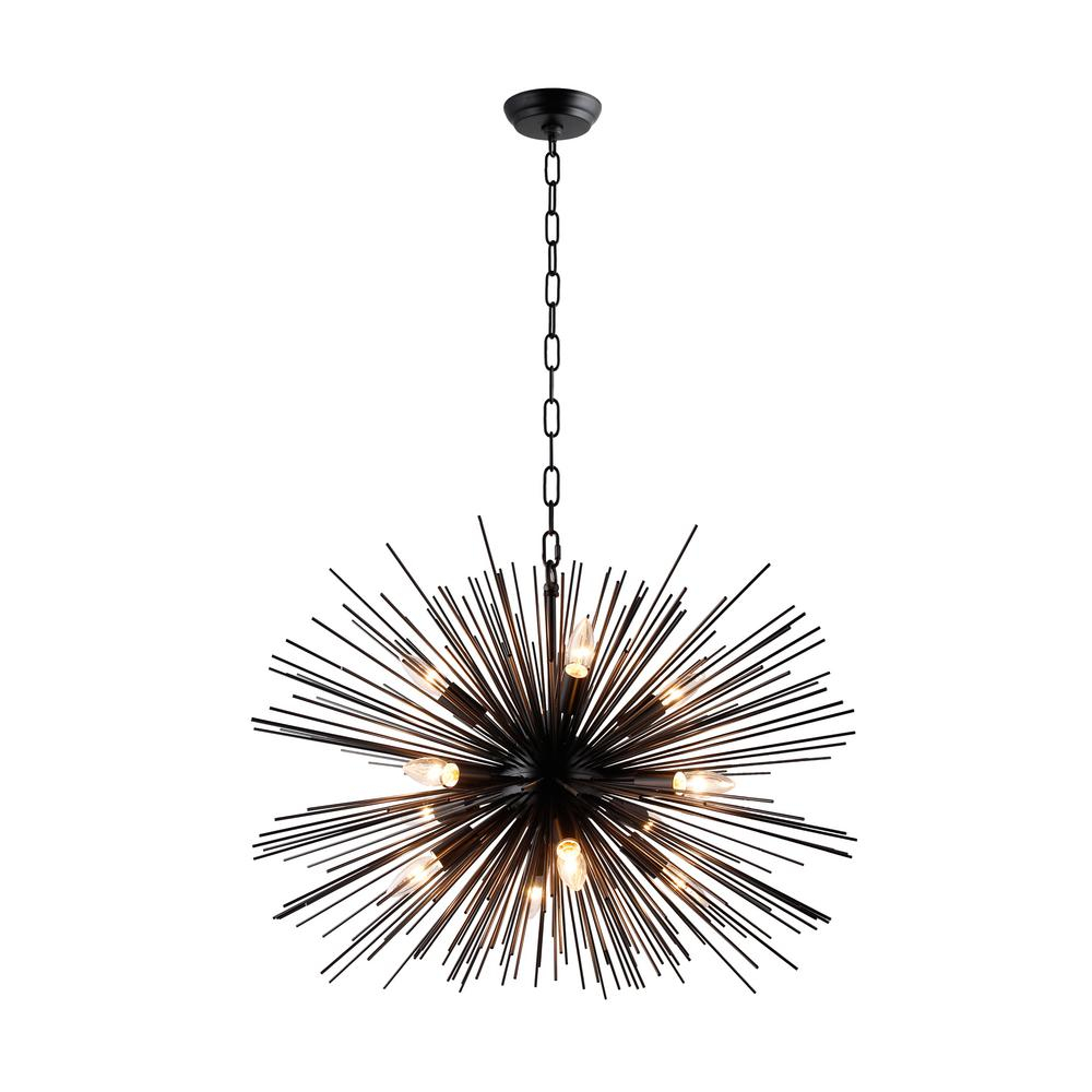 12-Light Black Sputnik Chandelier within Asher 12-Light Sputnik Chandeliers (Image 2 of 30)