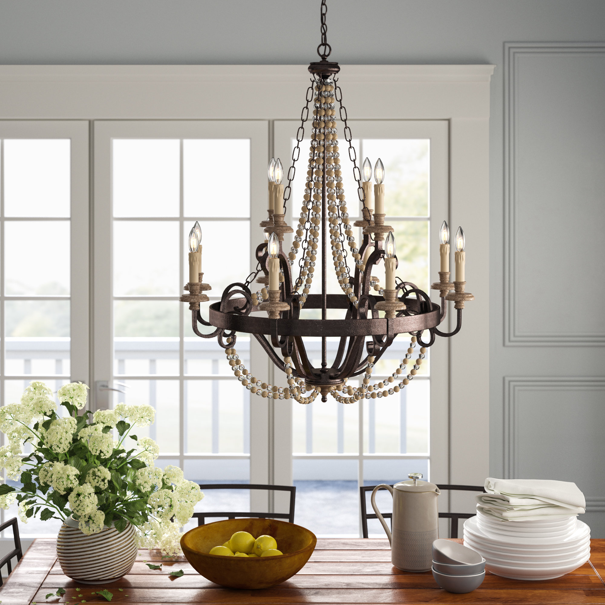 12 Light Candle Style Chandelier Pertaining To Duron 5 Light Empire Chandeliers (Gallery 24 of 30)