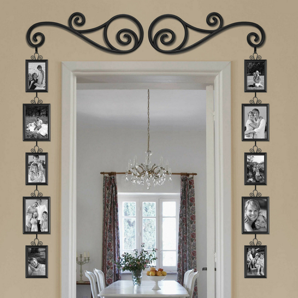 12 Piece Over The Door Mirror Scroll Photo Frame Set Gallery Wall Art Home  Decor 44021203347 | Ebay For Scroll Framed Wall Decor (Gallery 12 of 30)