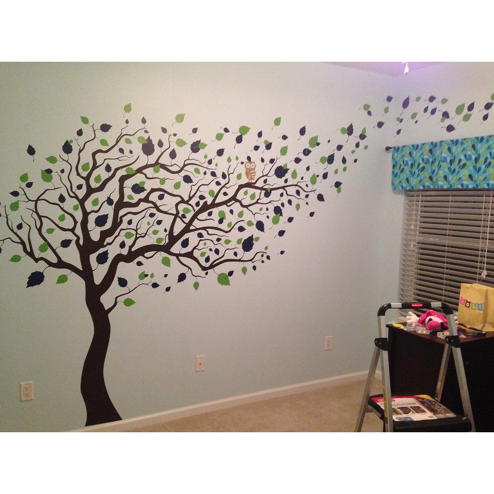 123 In. X 83 In. Blowing In The Wind Tree Removable Wall Decal Intended For Tree Wall Decor (Gallery 22 of 30)