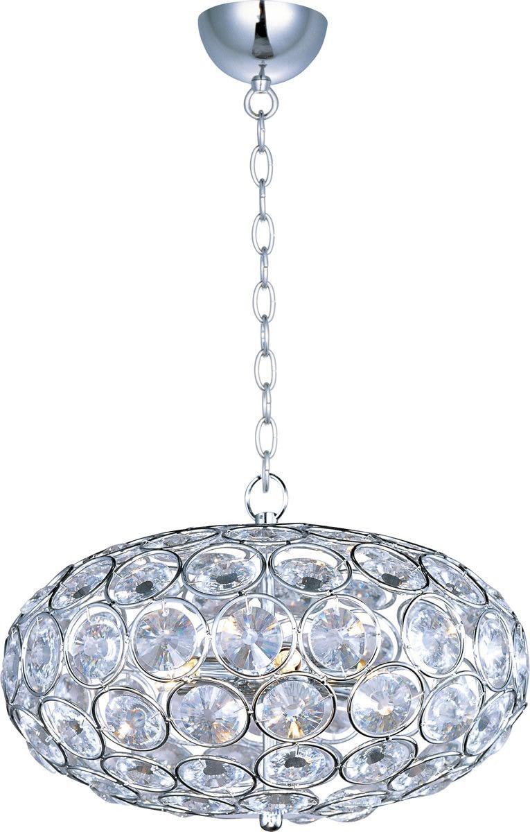 16 Inchw Brilliant Xenon 6 Light Single Pendant Polished Throughout Devereaux 1 Light Single Globe Pendants (Gallery 21 of 30)