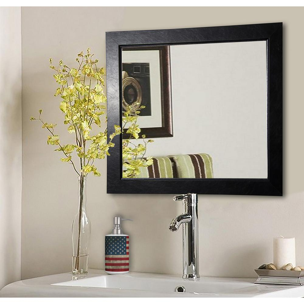 17 In. X 17 In. Black Superior Square Vanity Wall Mirror Pertaining To Colton Modern & Contemporary Wall Mirrors (Gallery 15 of 30)
